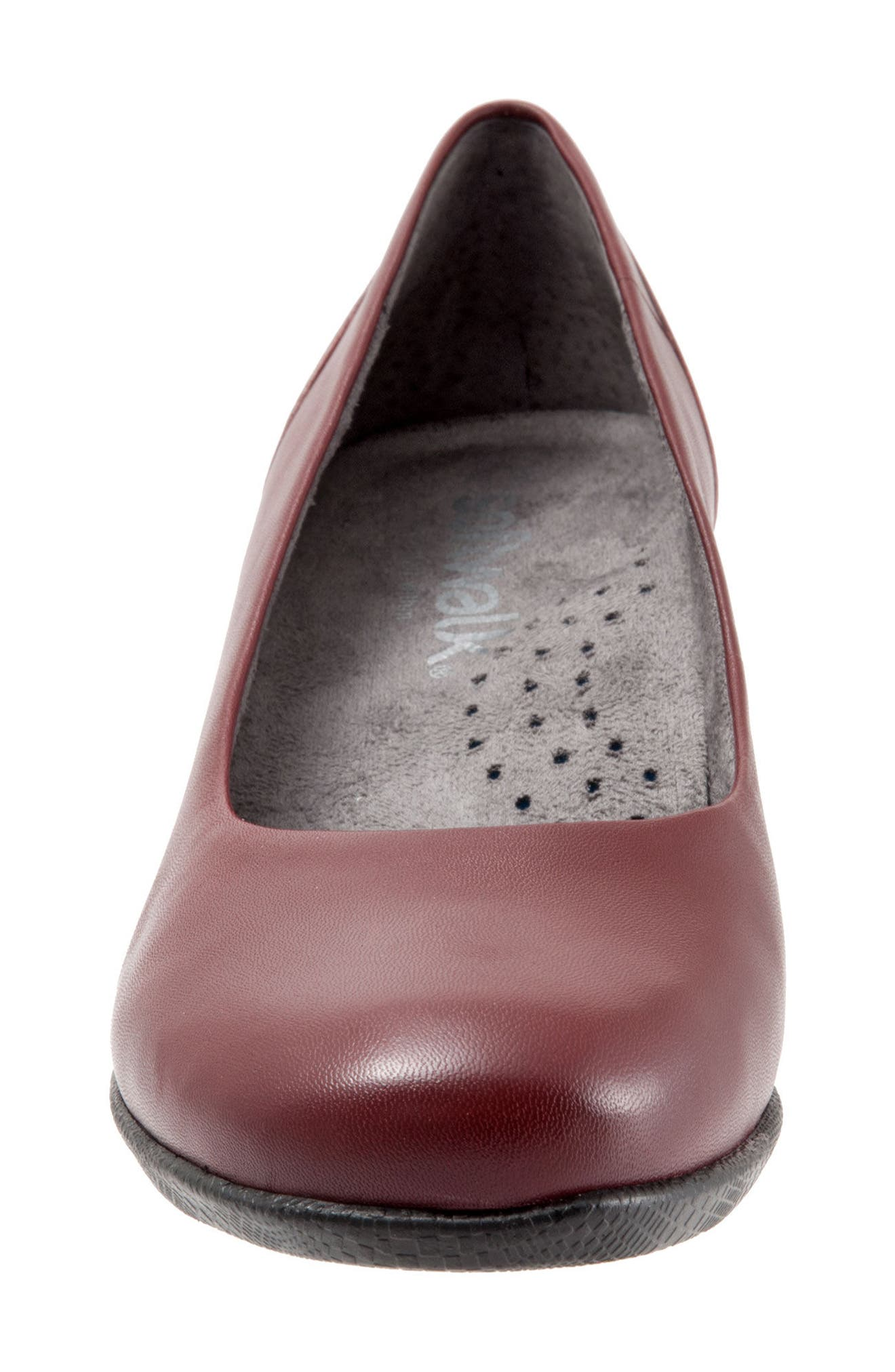Imperial II Pump,                             Alternate thumbnail 5, color,                             Dark Red Leather