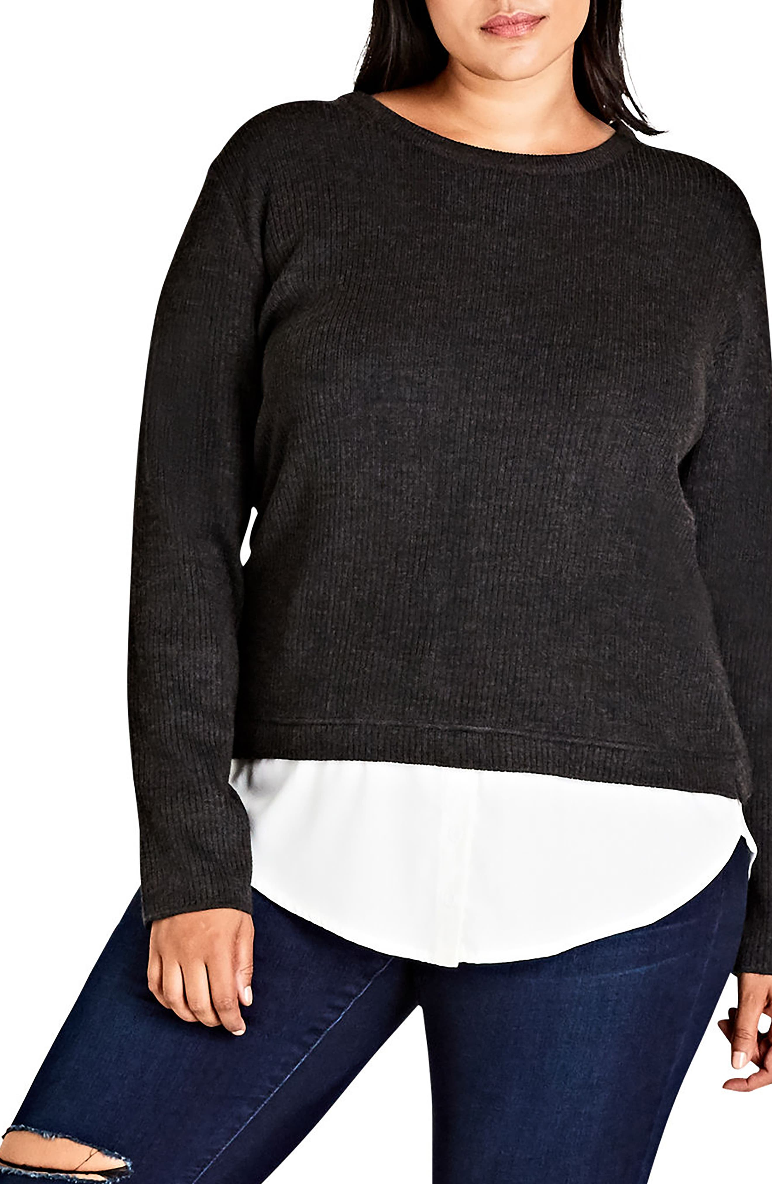 City Chic Promise Me Sweater (Plus Size)