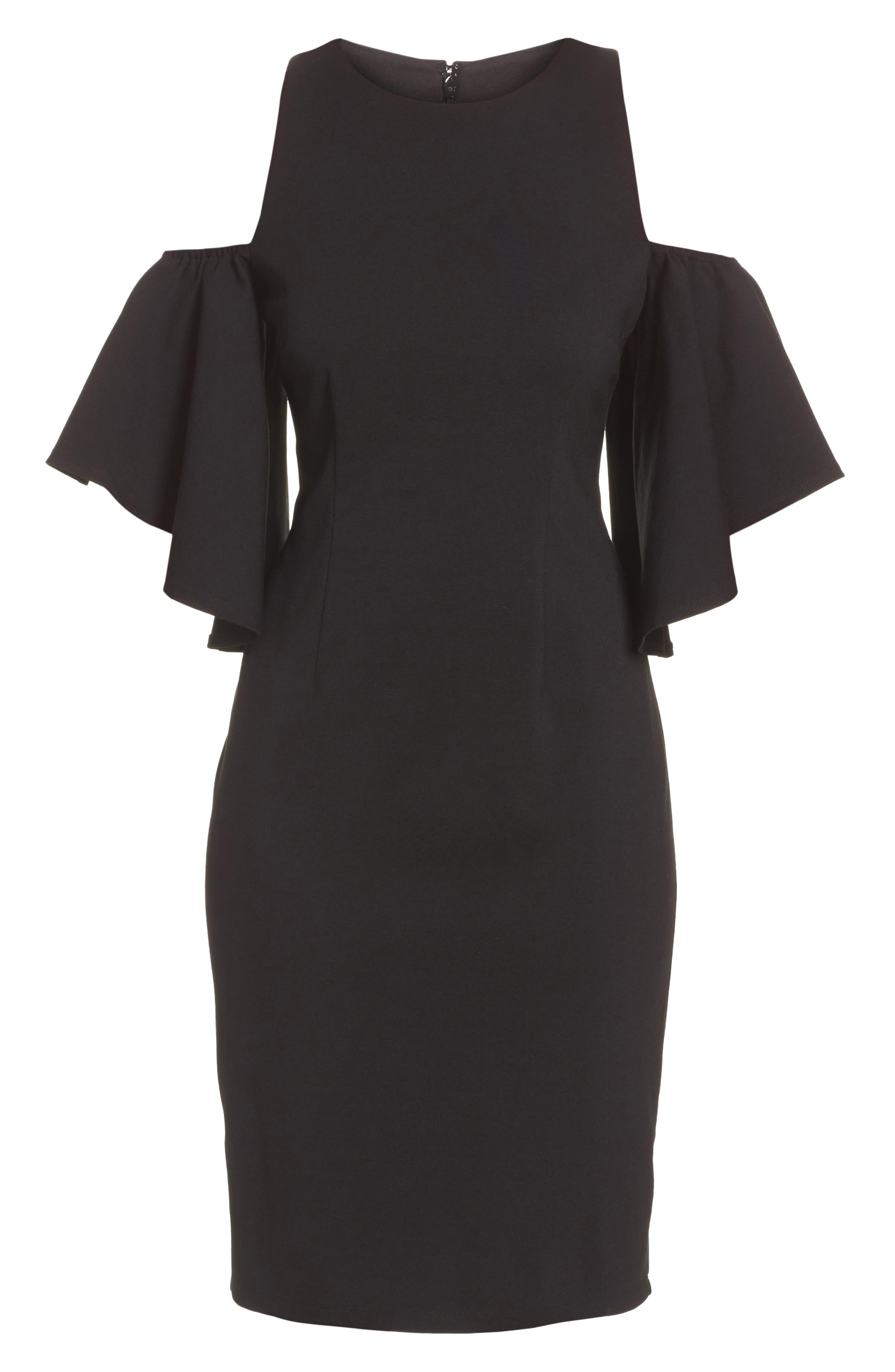 Alternate Image 6  - Eliza J Cold Shoulder Sheath Dress