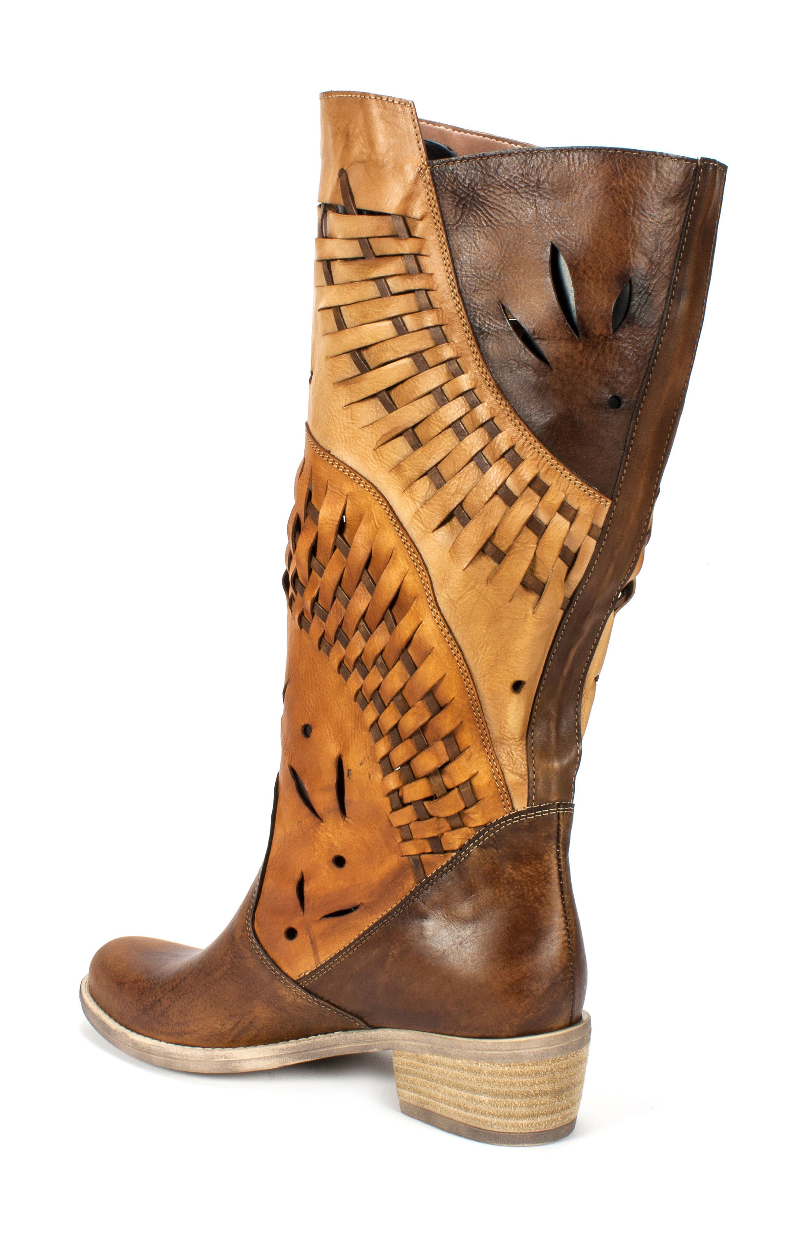 Tallie Western Boot,                             Alternate thumbnail 2, color,                             Tobacco Leather