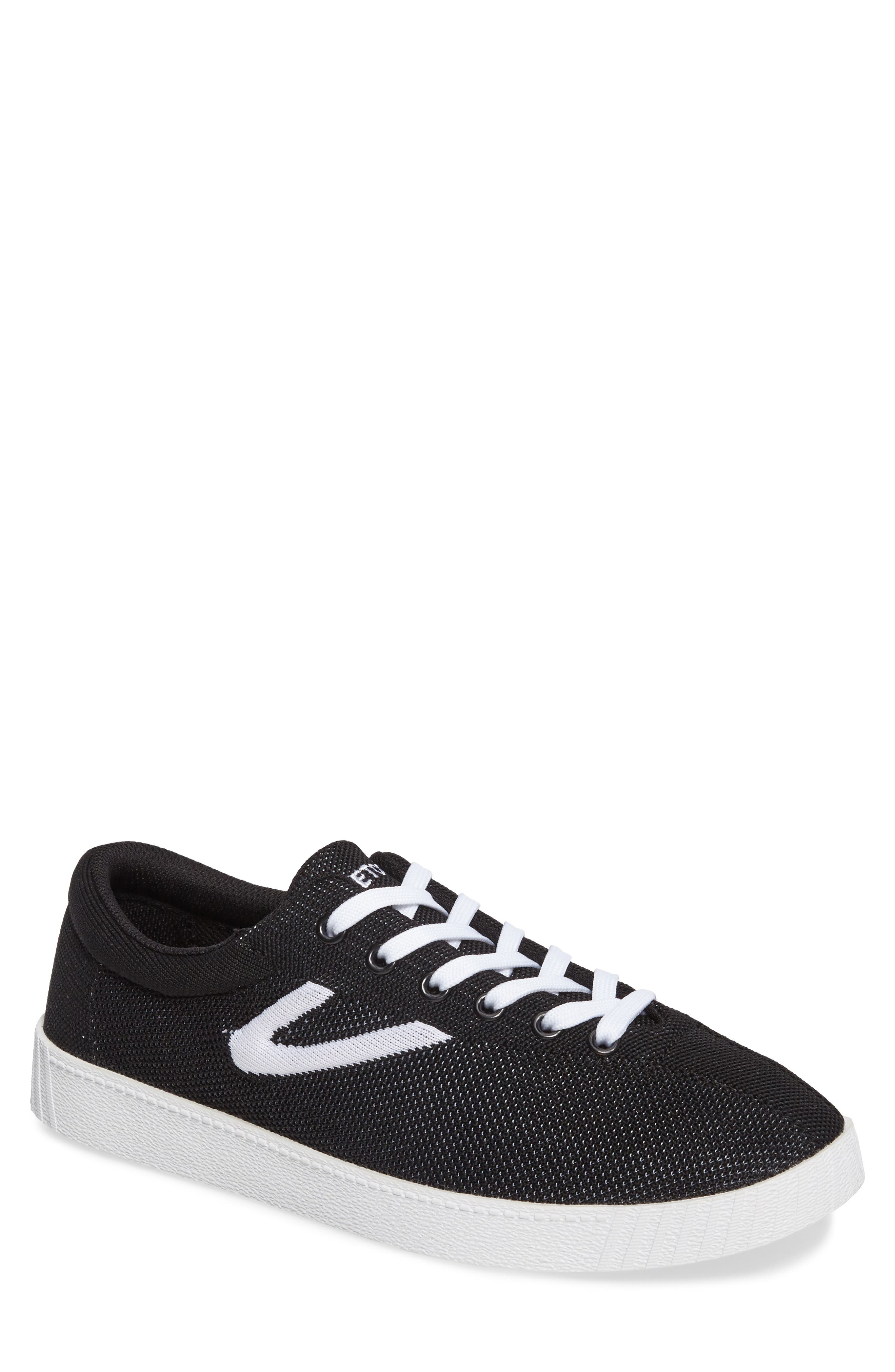 Nylite Knit Sneaker,                         Main,                         color, Black/ White