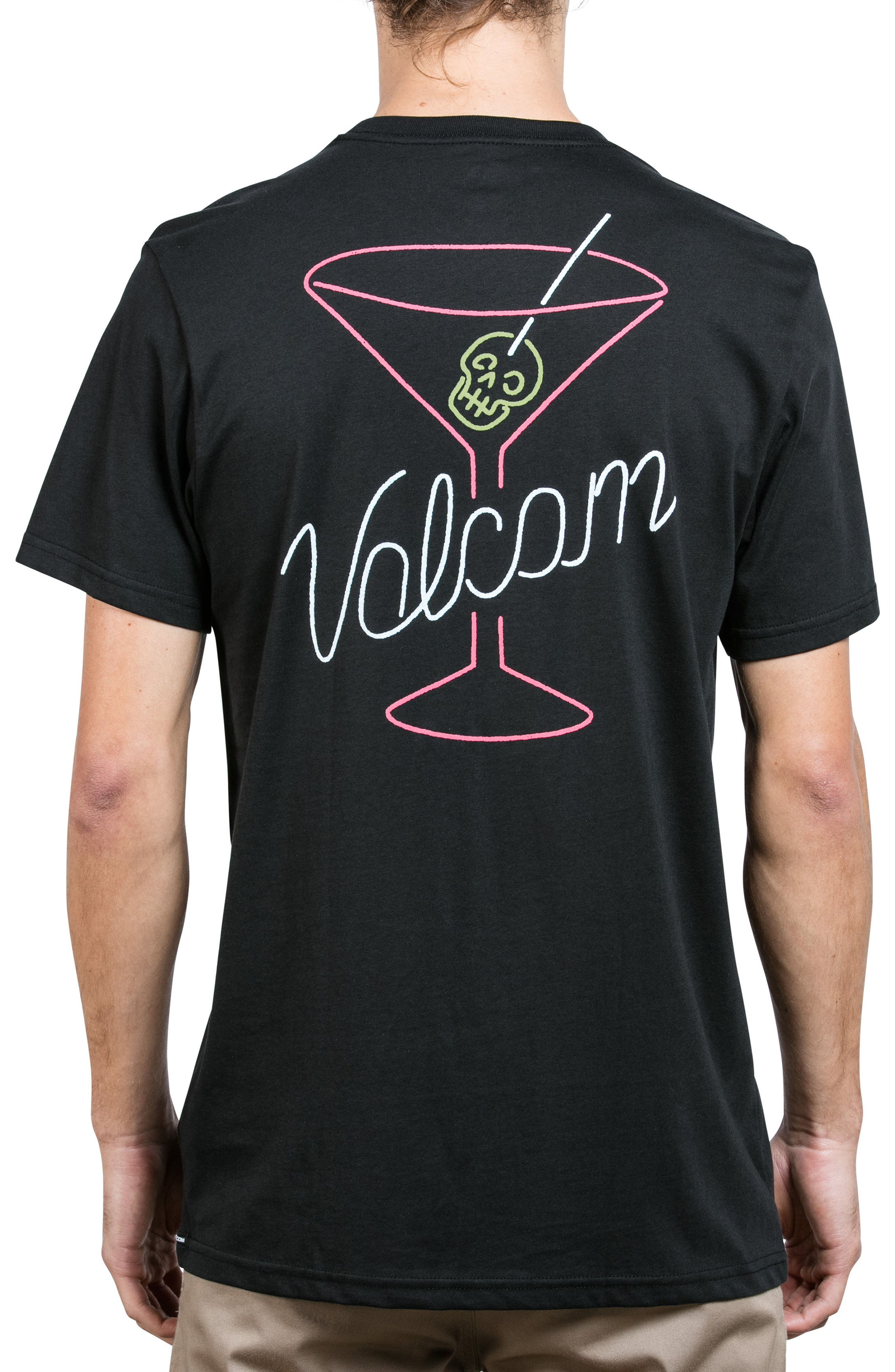 Kneon Nights T-Shirt,                             Alternate thumbnail 2, color,                             Black