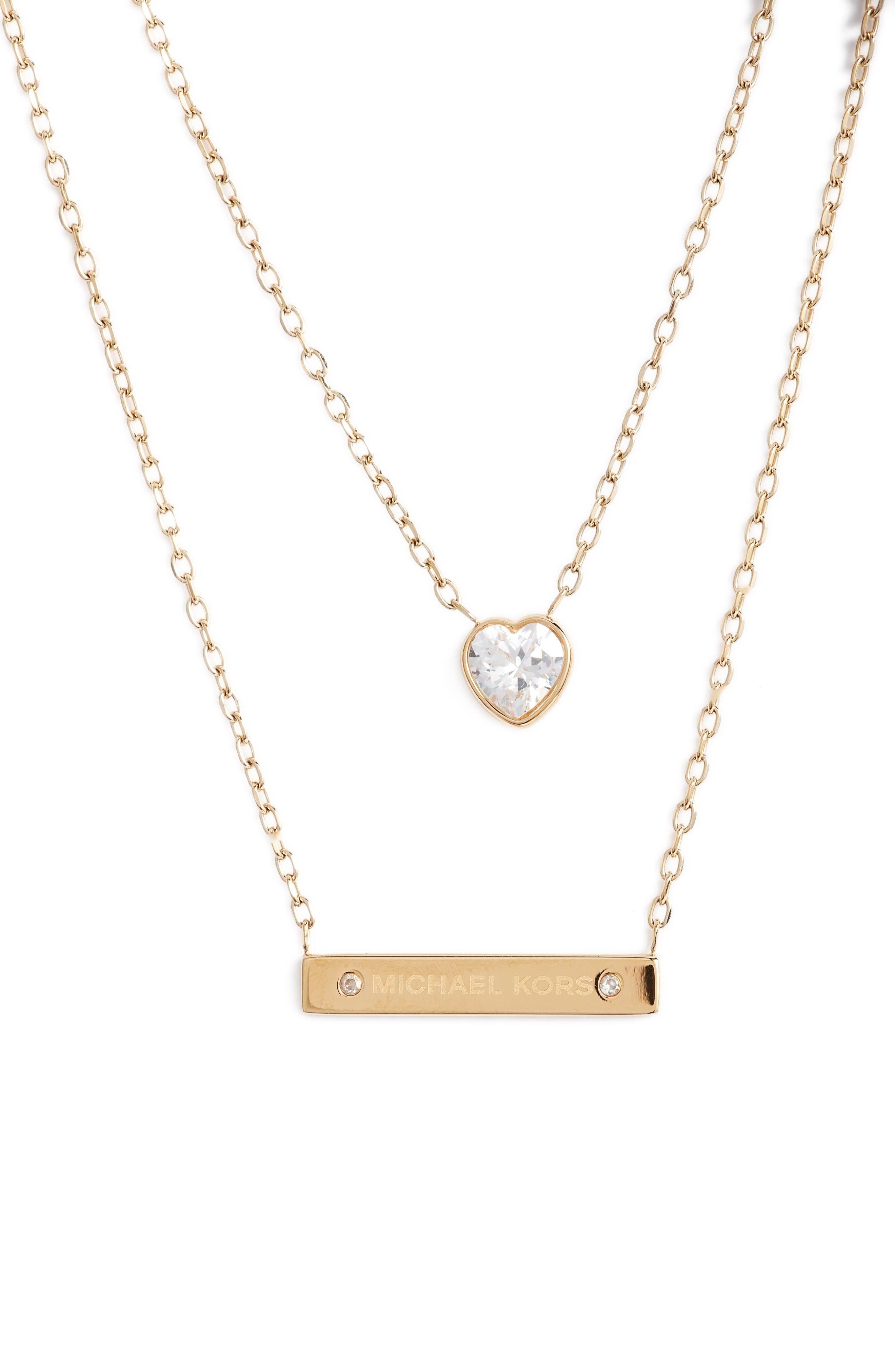 Alternate Image 2  - Michael Kors Multistrand Pendant Necklace