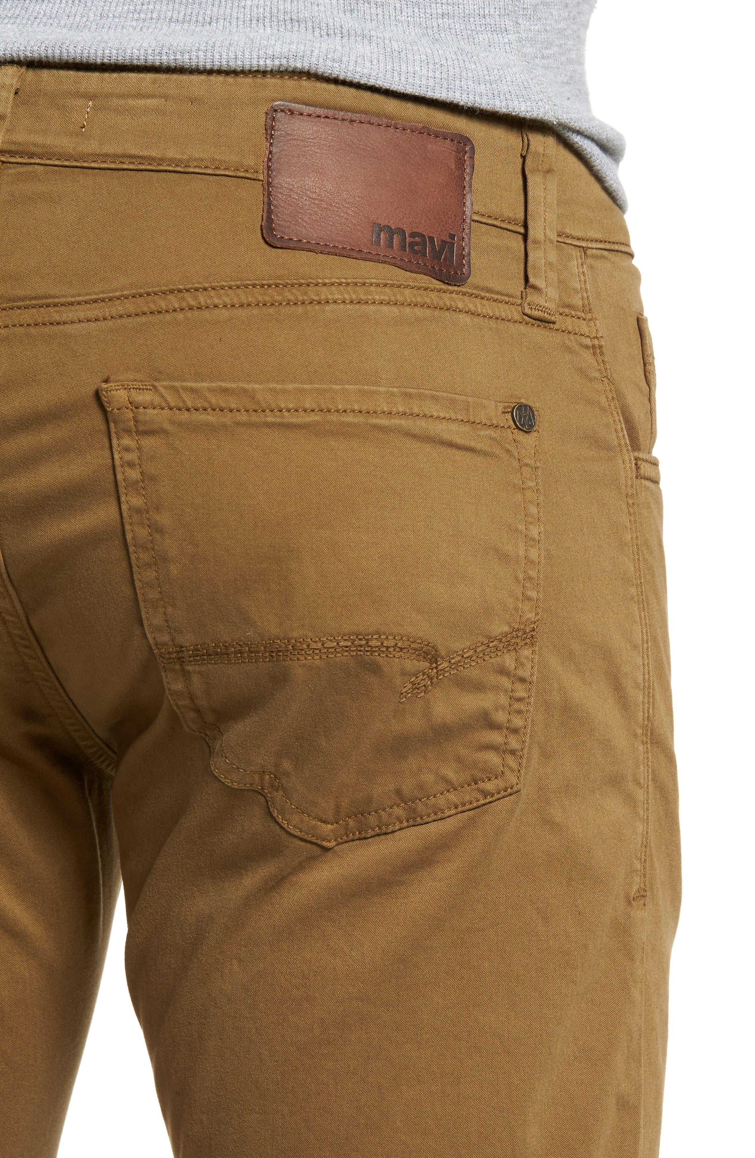 Alternate Image 4  - Mavi Jeans Zach Straight Leg Twill Pants