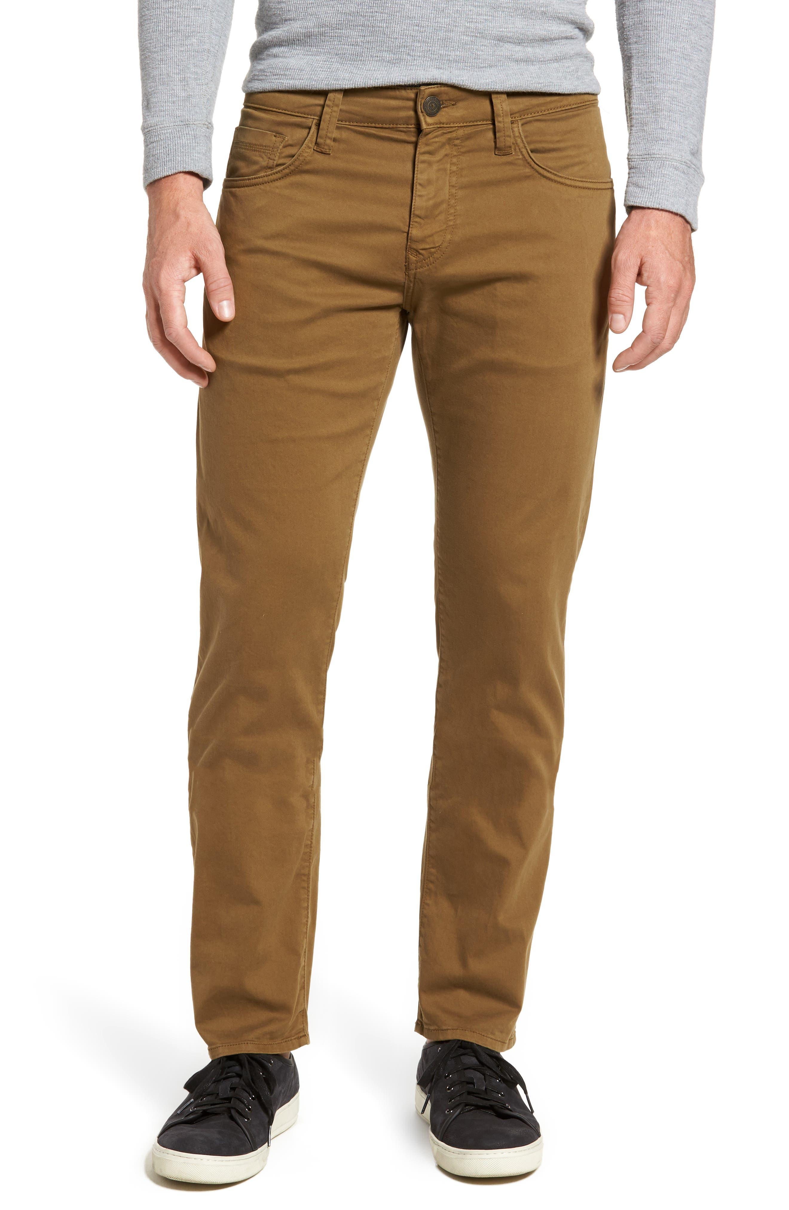Zach Straight Leg Twill Pants,                         Main,                         color, Kangroo Twill