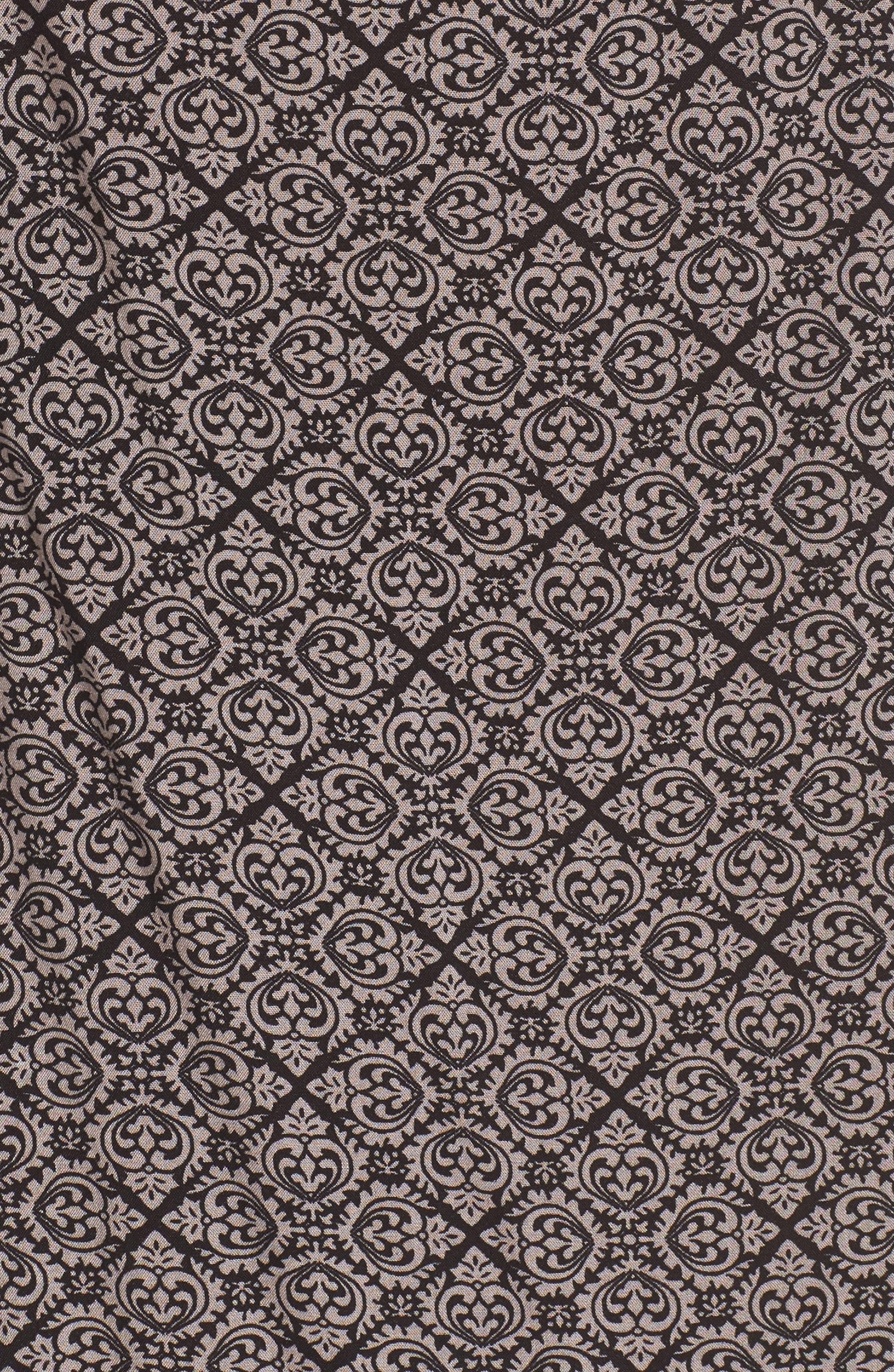 Flutter Sleeve Shift Dress,                             Alternate thumbnail 5, color,                             Black