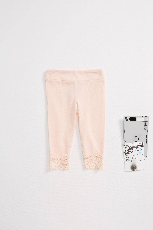 Splendid Lace Cuff Leggings (Baby Girls)