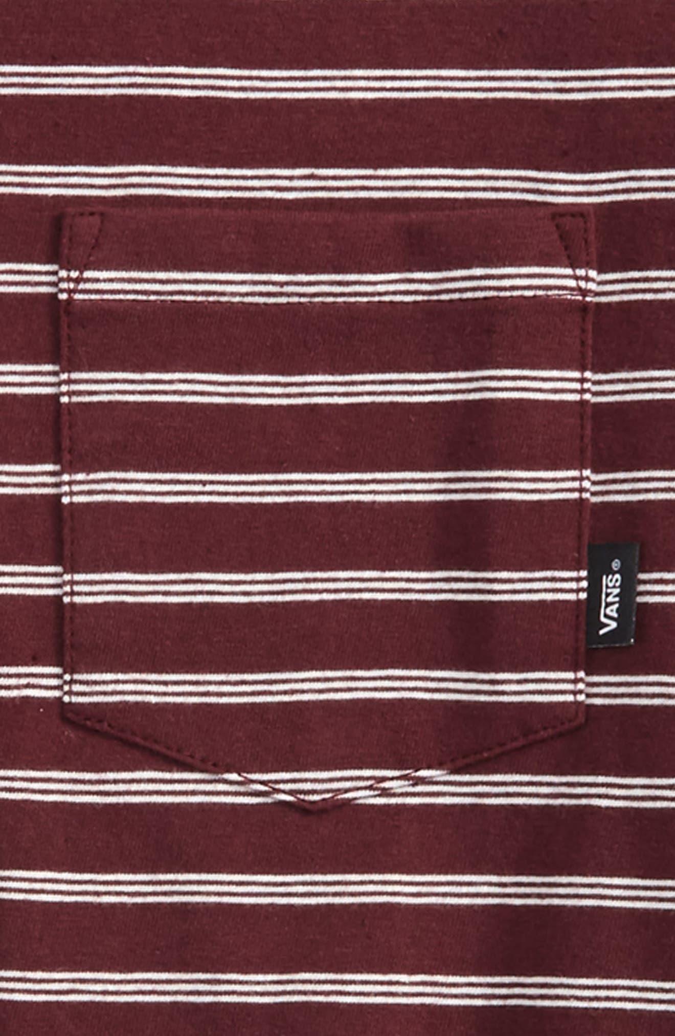Lined Up Knit T-Shirt,                             Alternate thumbnail 2, color,                             Port Royale