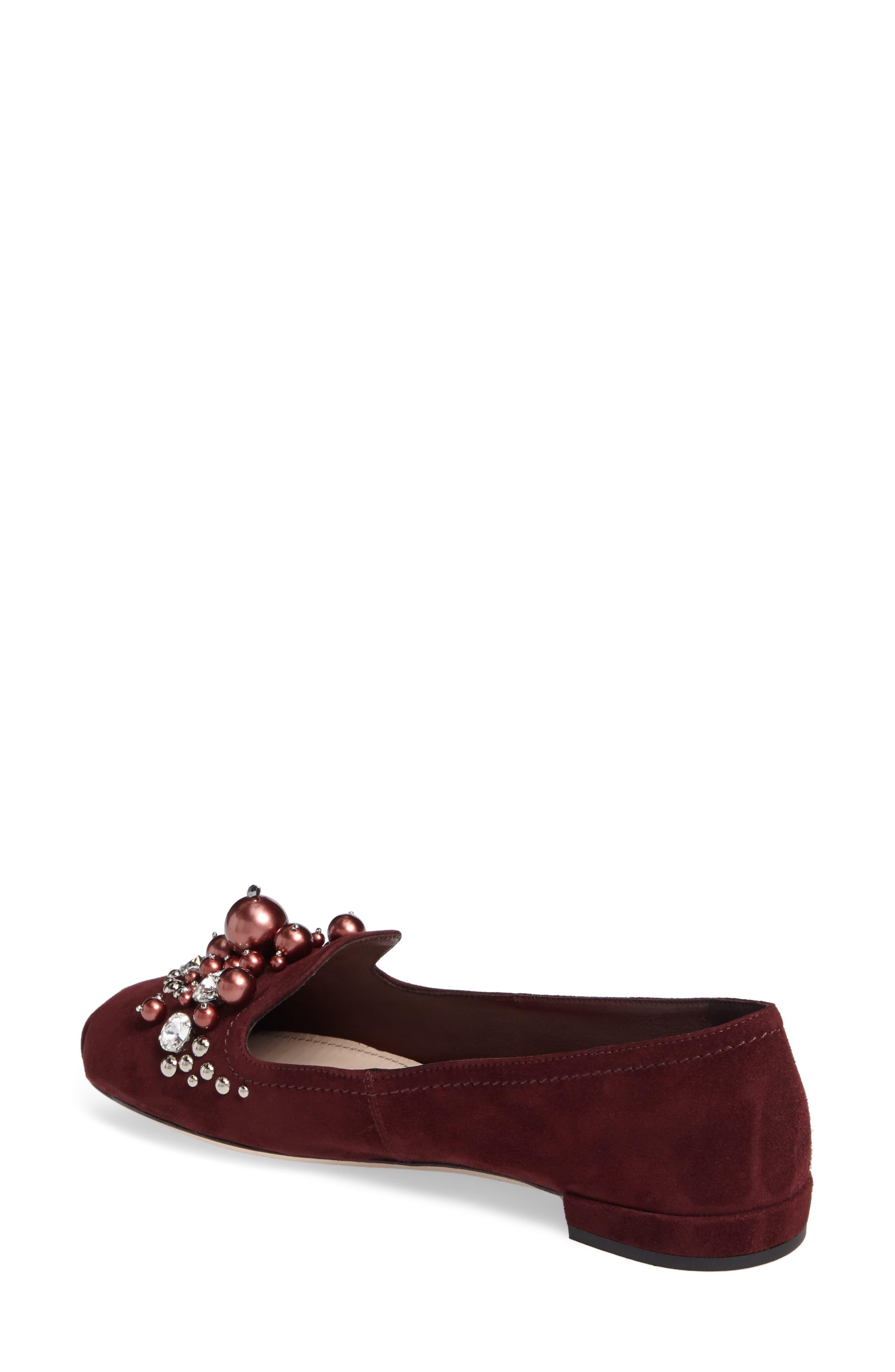Alternate Image 2  - Miu Miu Embellished Loafer (Women)