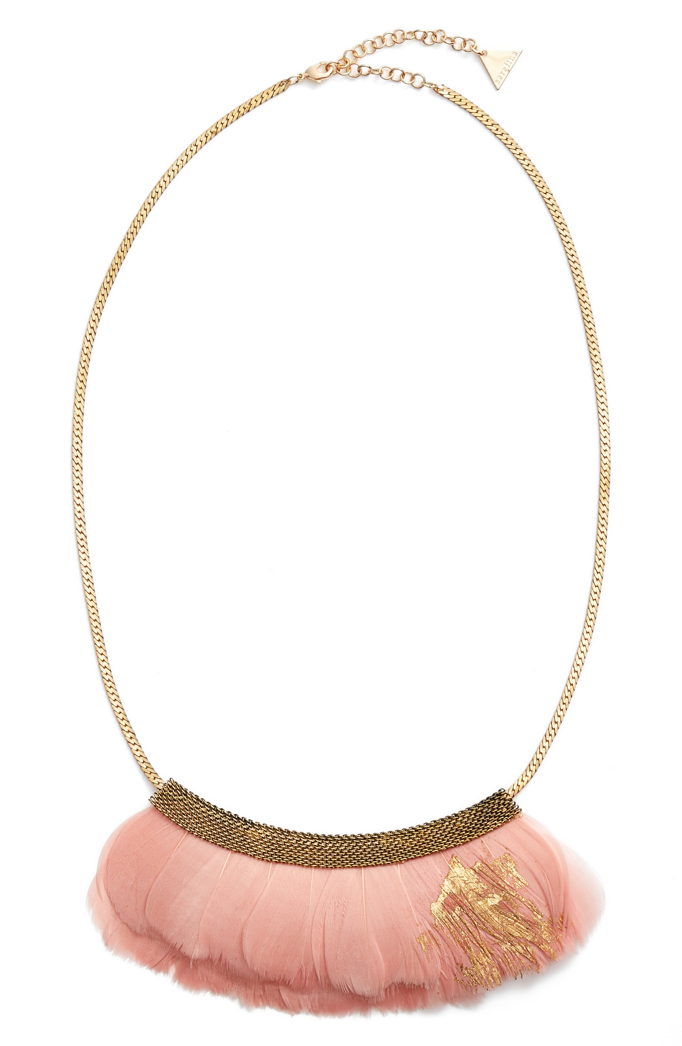 SEREFINA Feather Bib Necklace