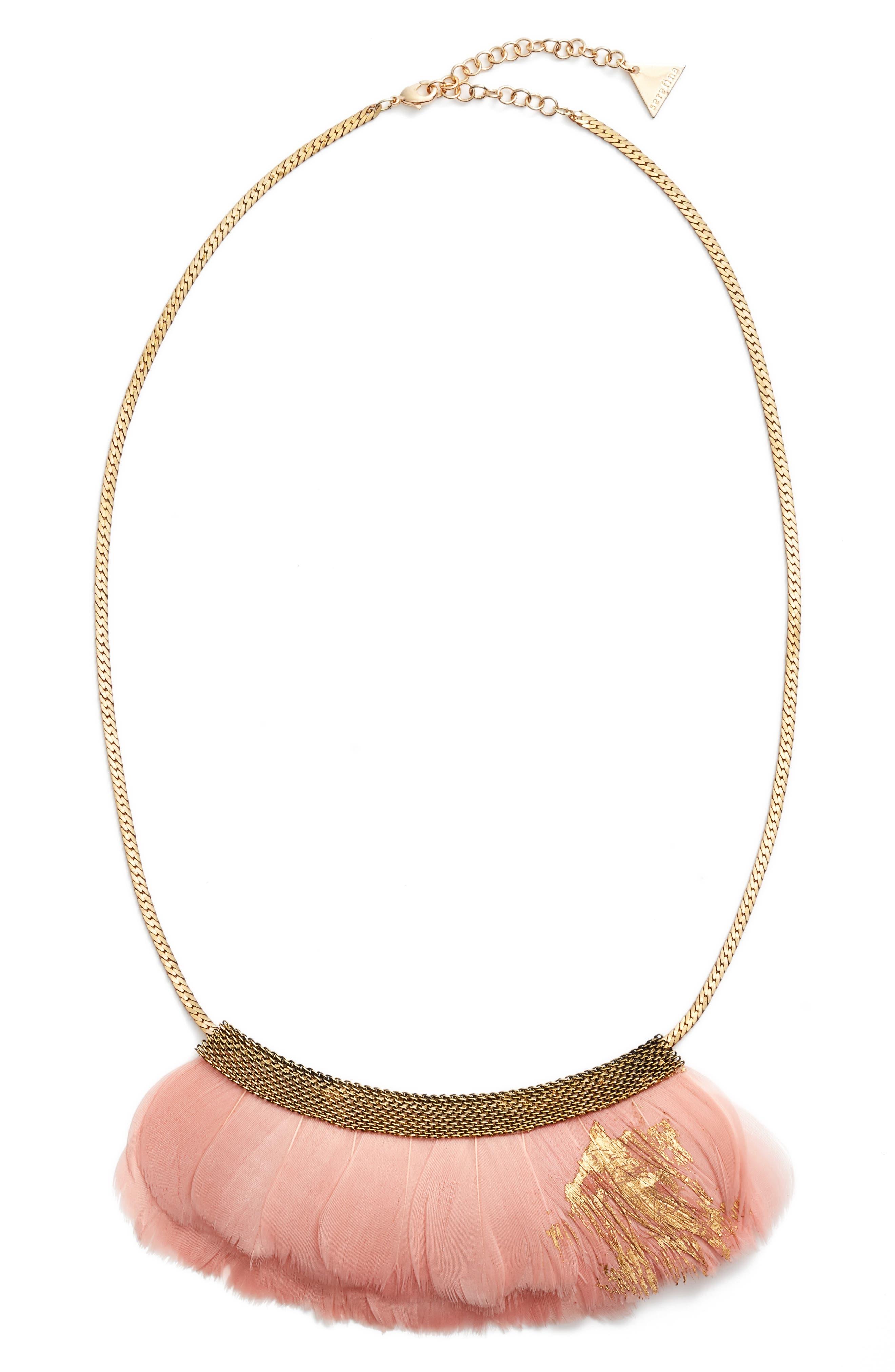 Main Image - Serefina Feather Bib Necklace