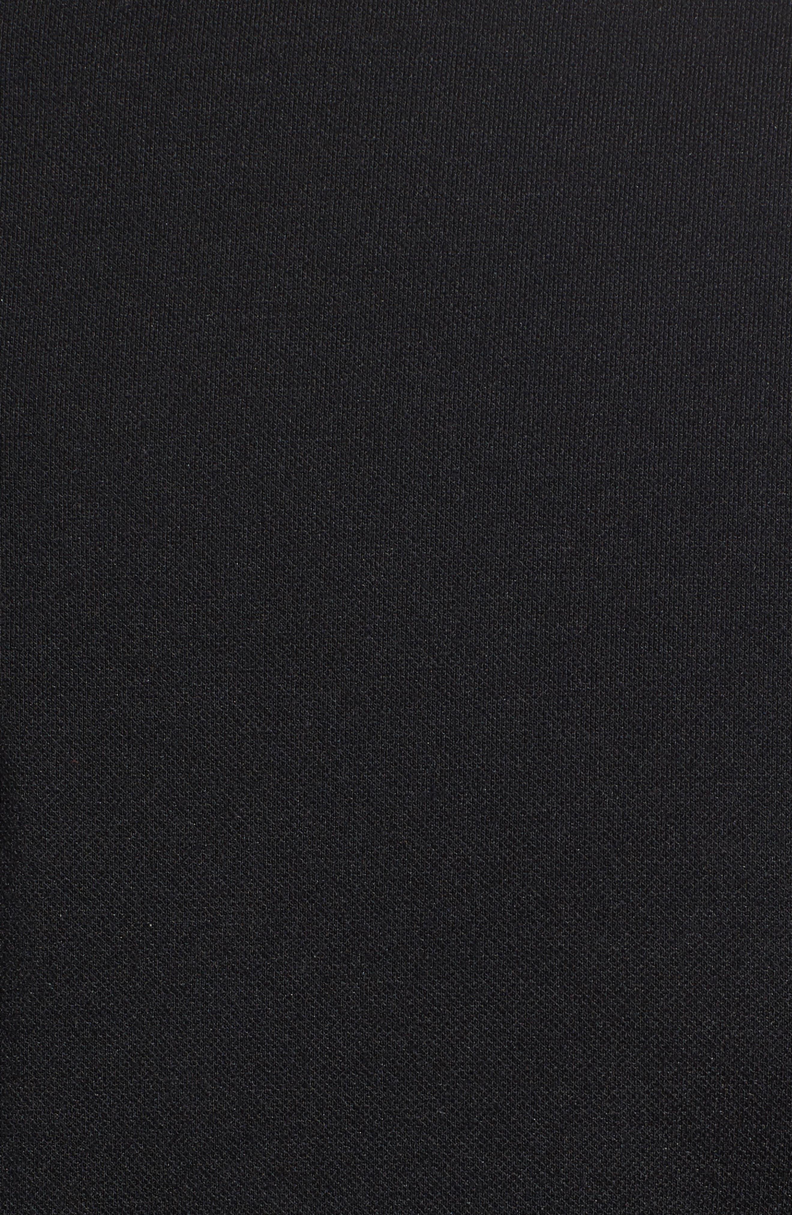 Slim Fit Mixed Media Track Jacket,                             Alternate thumbnail 5, color,                             Black