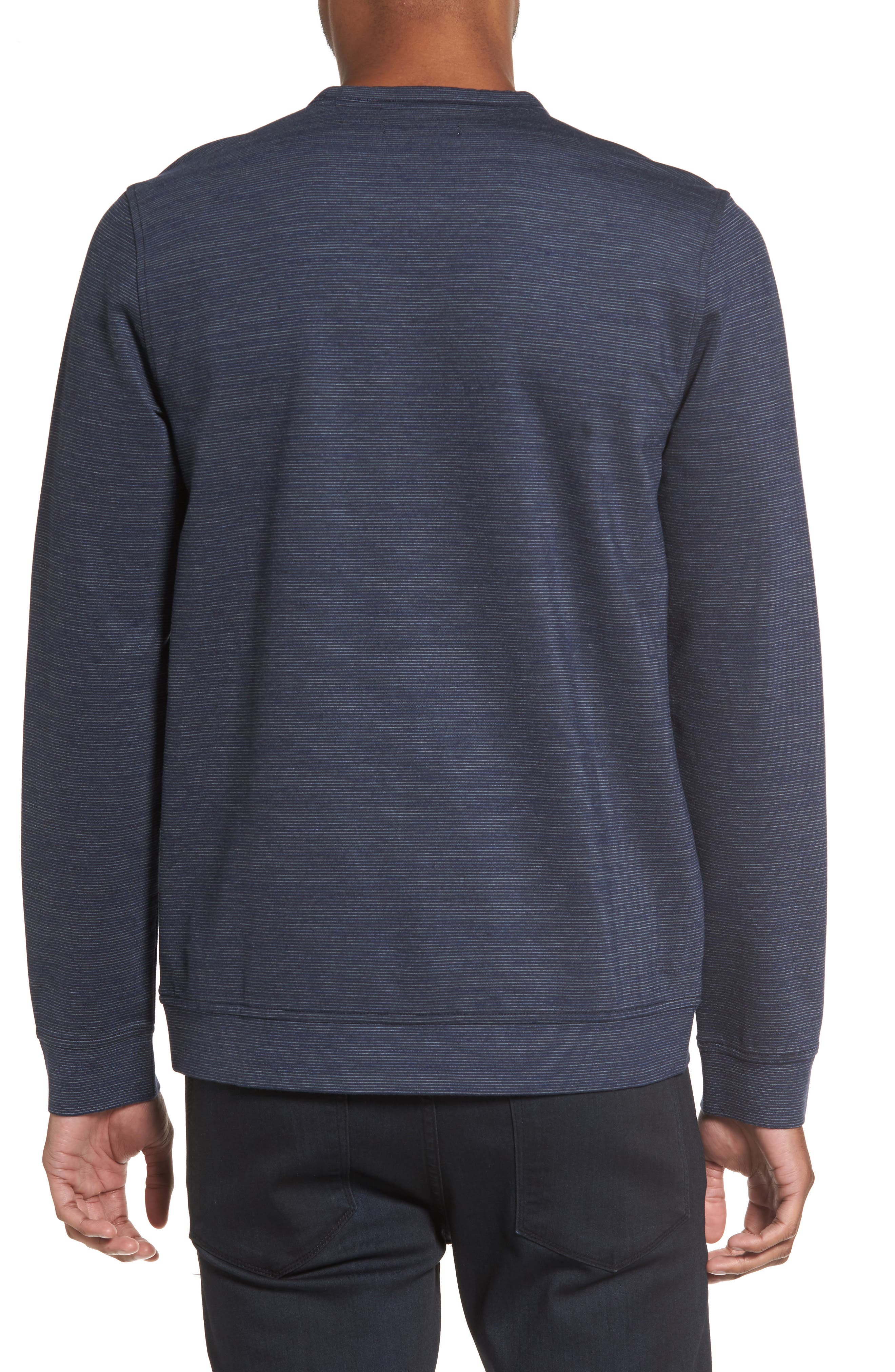 Space Dye Stripe Sweatshirt,                             Alternate thumbnail 2, color,                             Navy Night Spacedye