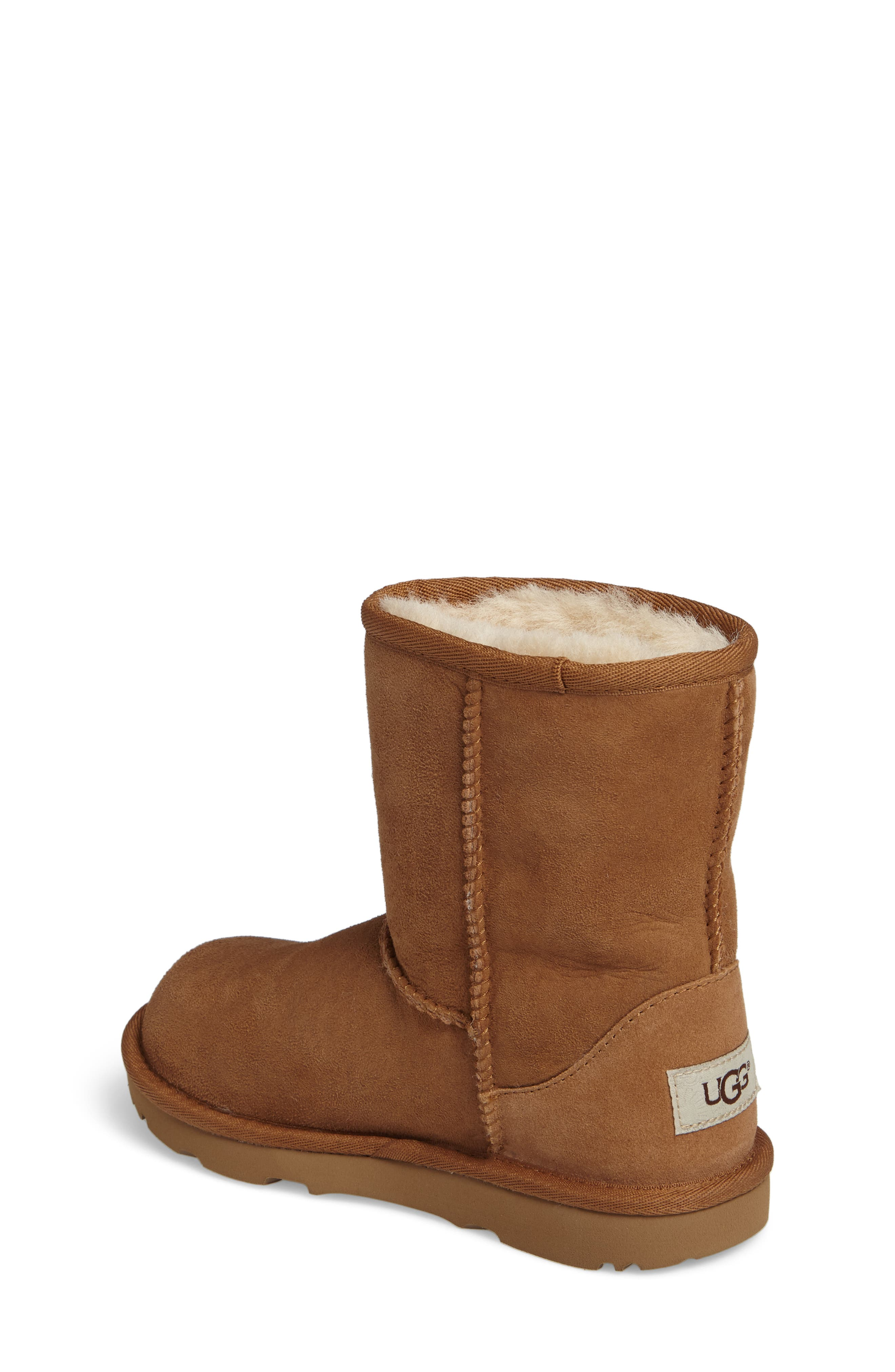 Classic II Water Resistant Genuine Shearling Boot,                             Alternate thumbnail 2, color,                             Chestnut Brown