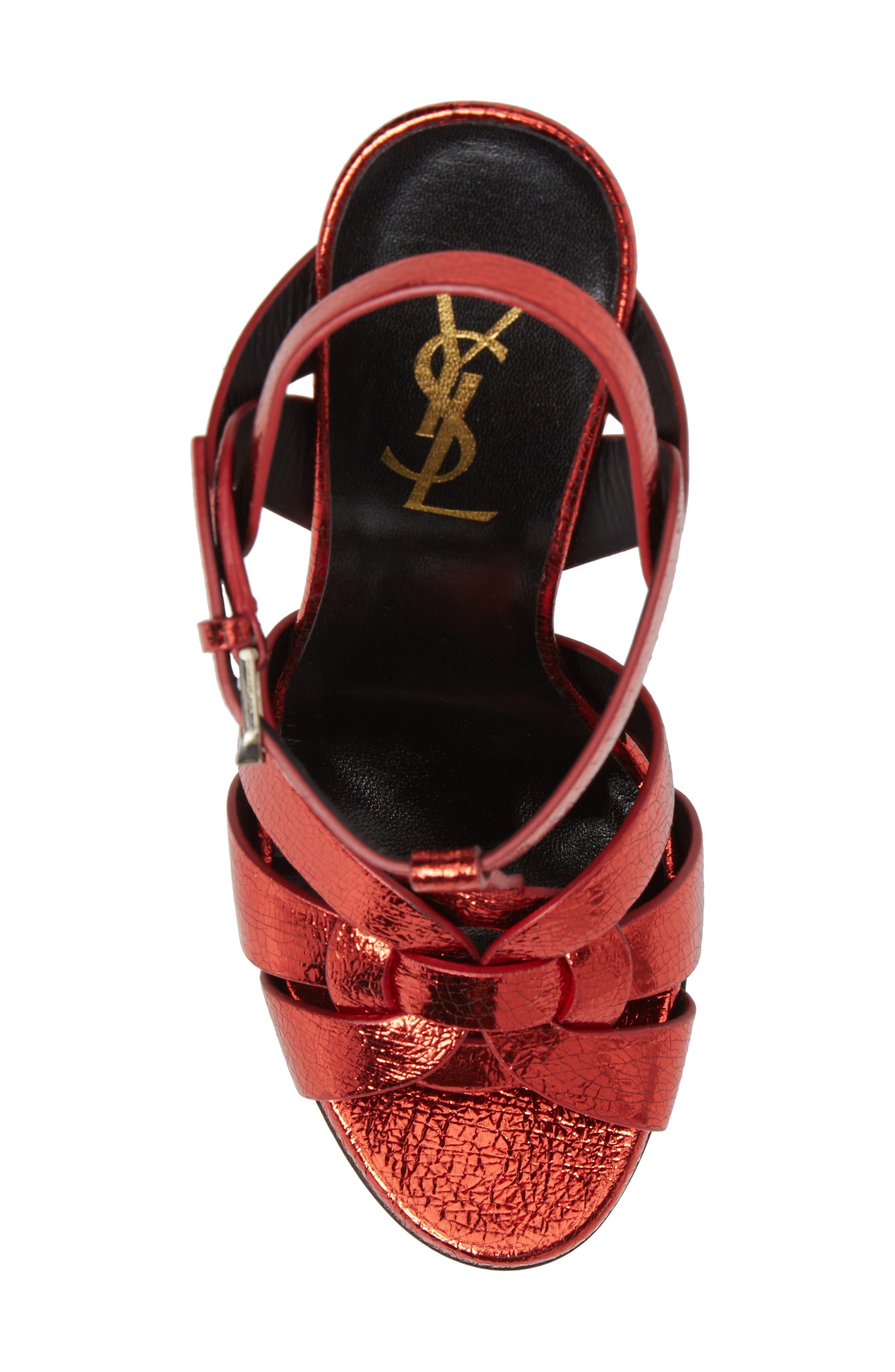 Alternate Image 5  - Saint Laurent Tribute Metallic Platform Sandal (Women)