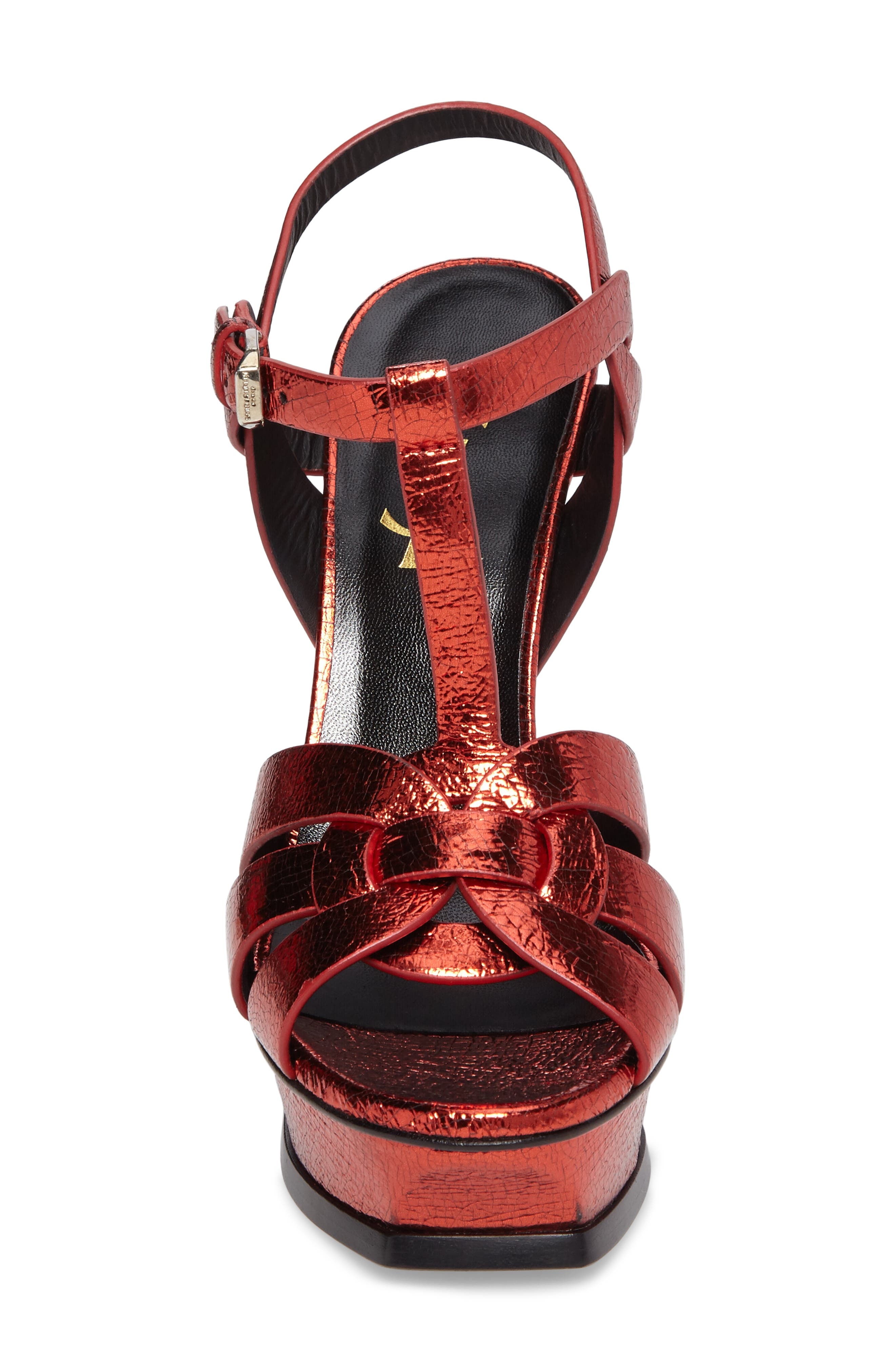 Alternate Image 4  - Saint Laurent Tribute Metallic Platform Sandal (Women)