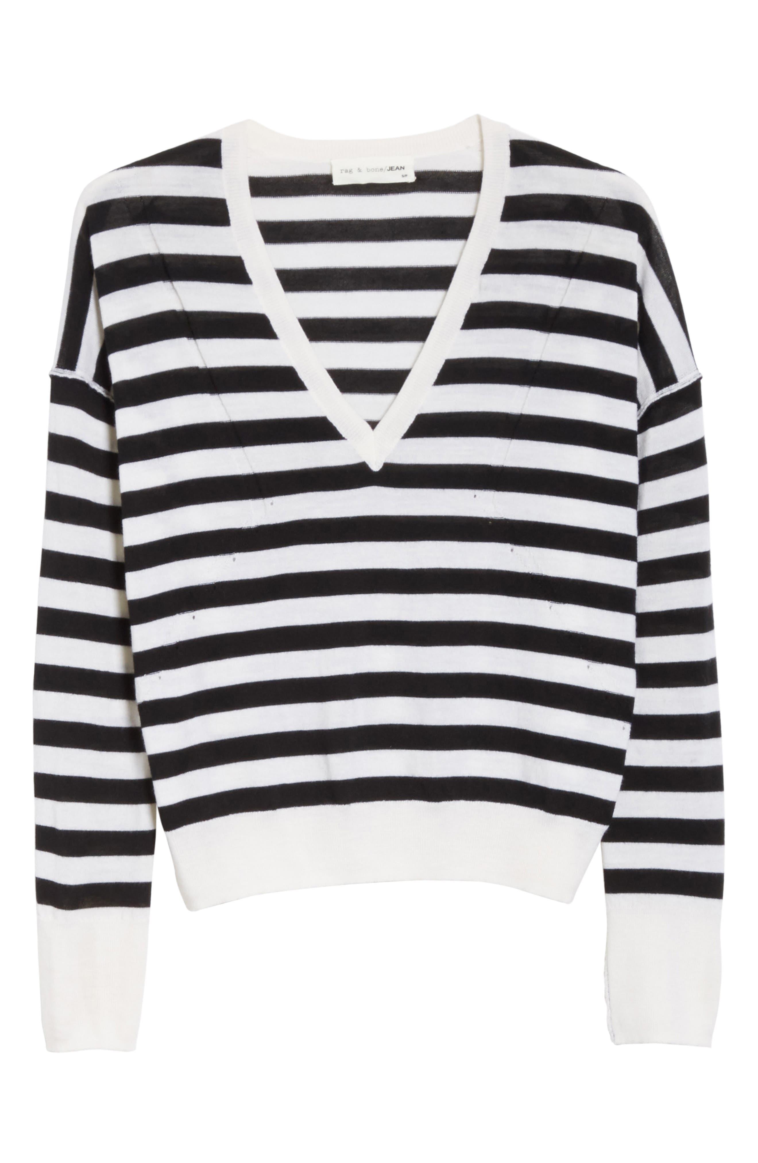 Alternate Image 6  - rag & bone/JEAN Bevan Stripe Wool Sweater