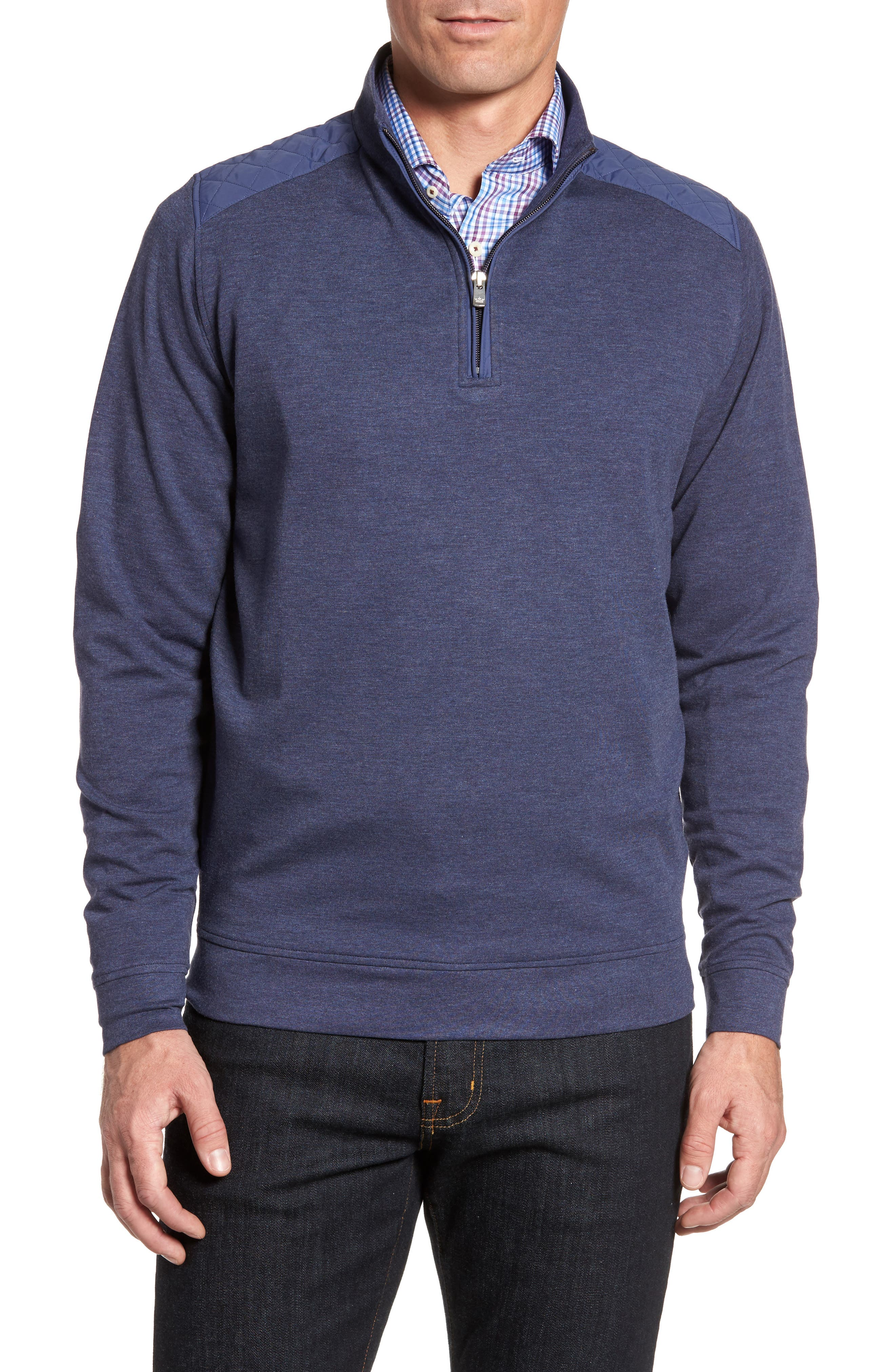 Boating Quarter Zip Pullover,                         Main,                         color, Yankee Blue