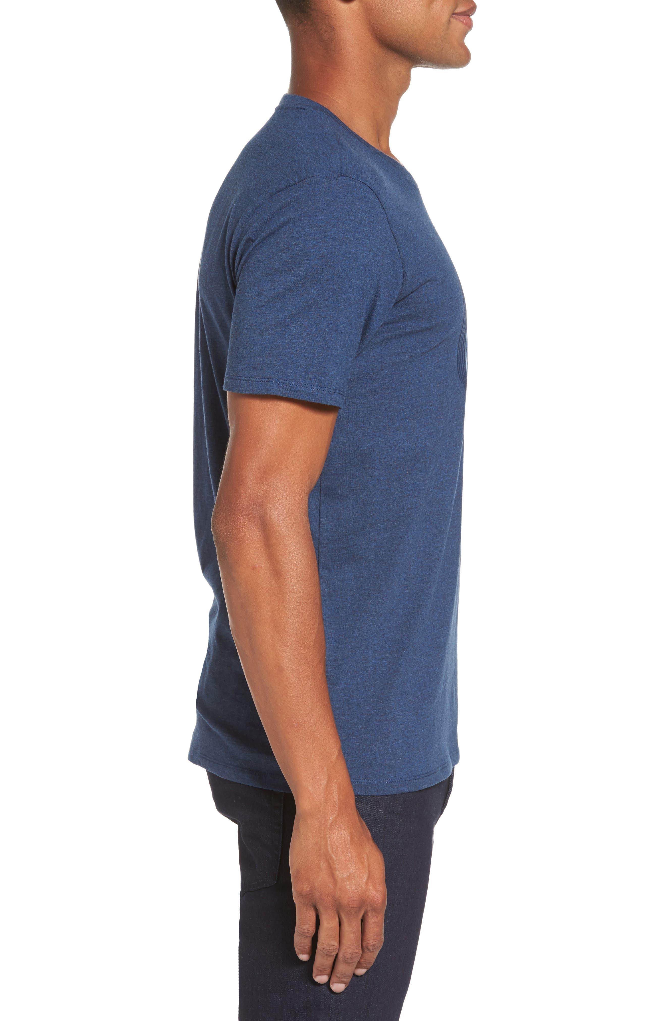 Optical Target T-Shirt,                             Alternate thumbnail 3, color,                             Blue