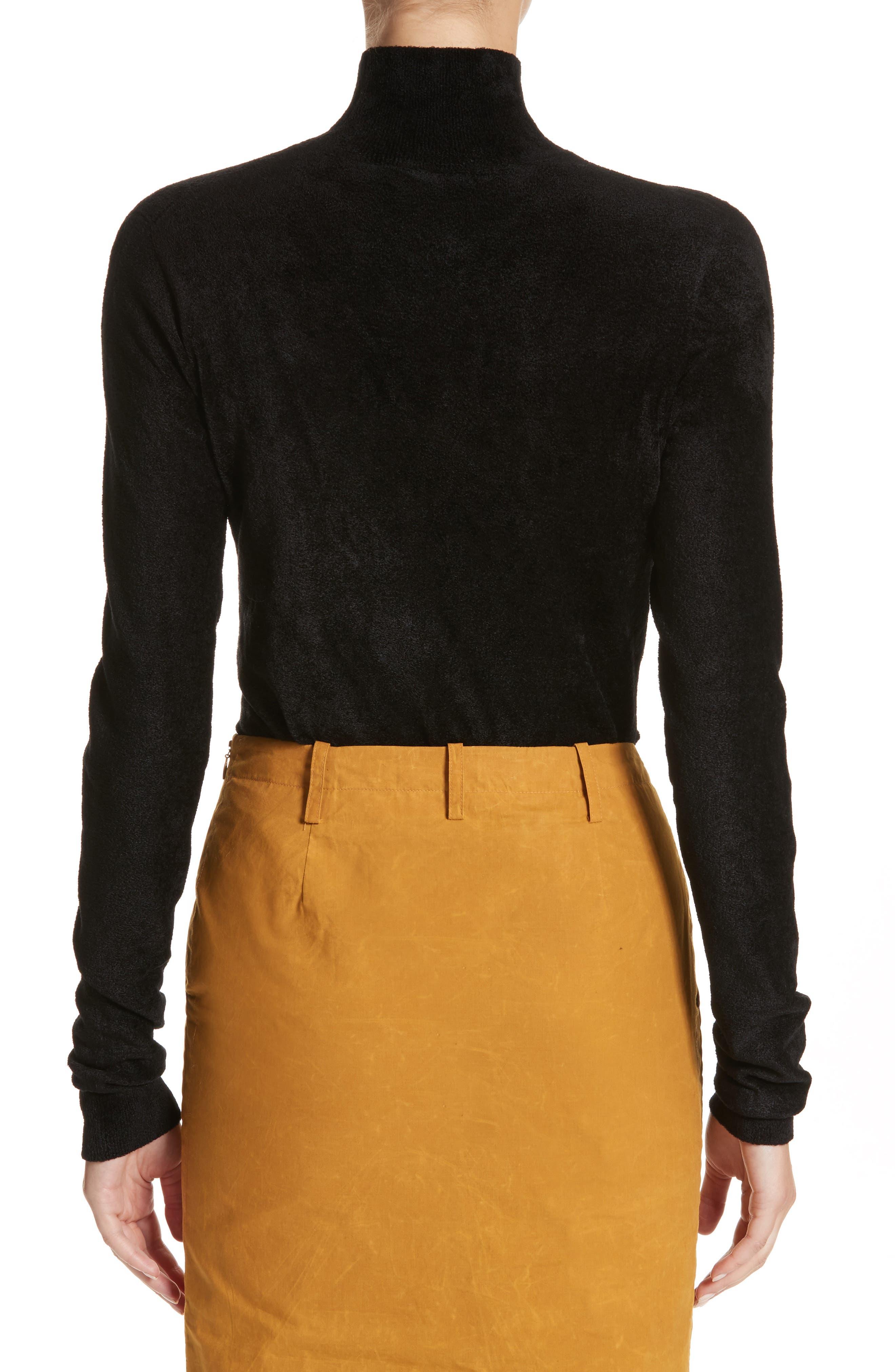 Chenille Turtleneck Sweater,                             Alternate thumbnail 2, color,                             00N99 Black