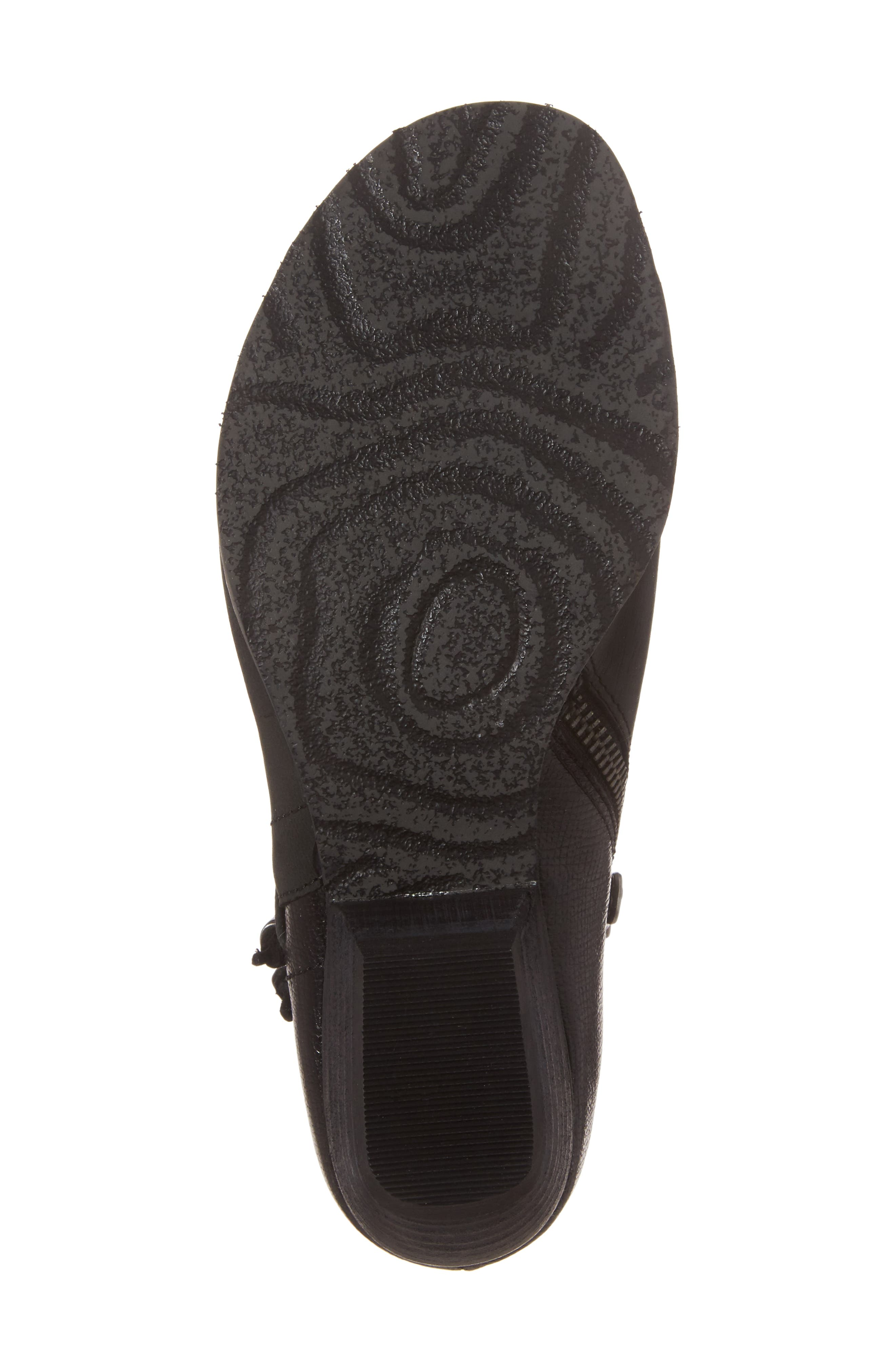 Truckage Open Toe Bootie,                             Alternate thumbnail 6, color,                             Black Leather