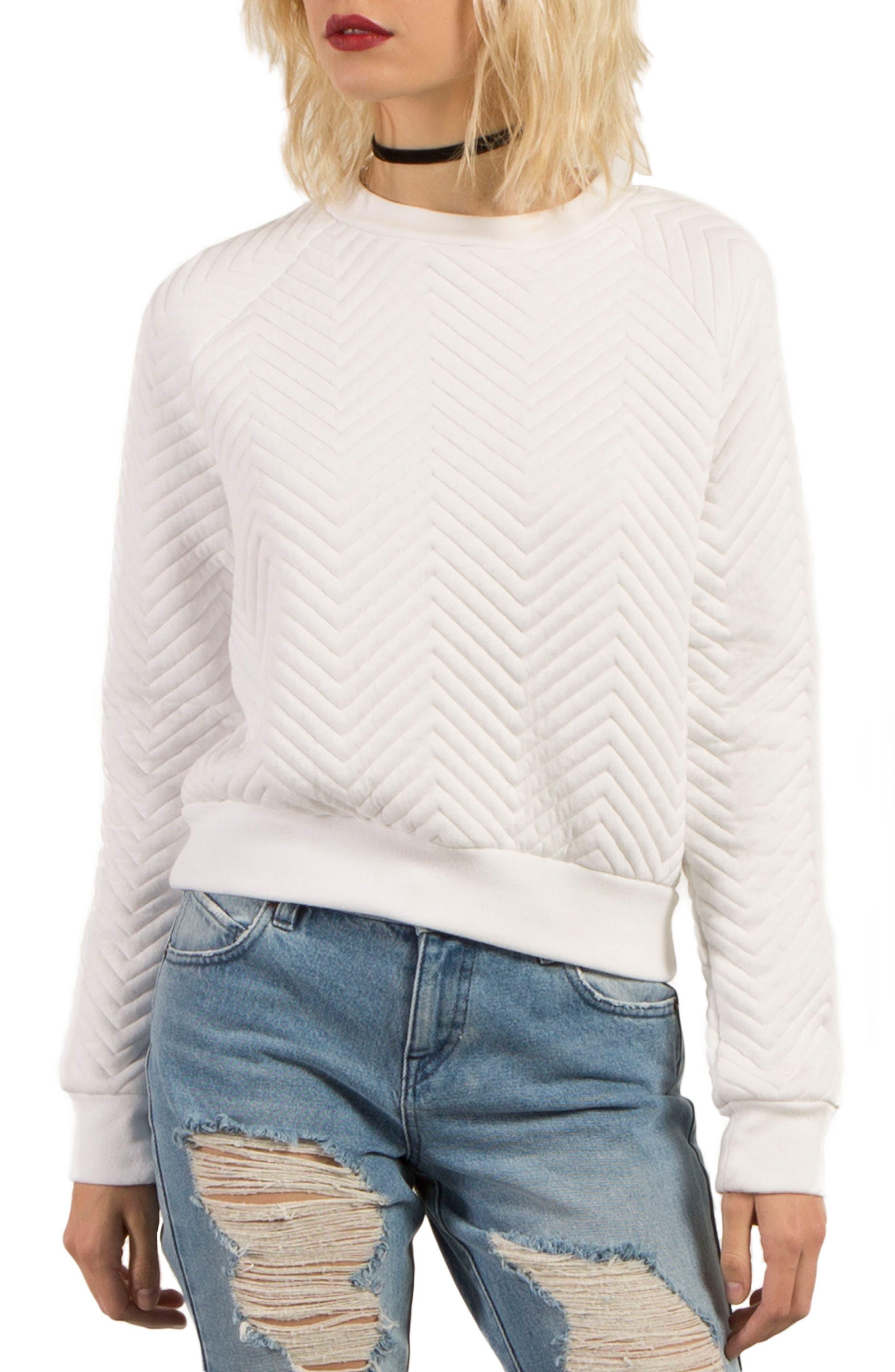 Cozy Dayz Sweatshirt,                         Main,                         color, White