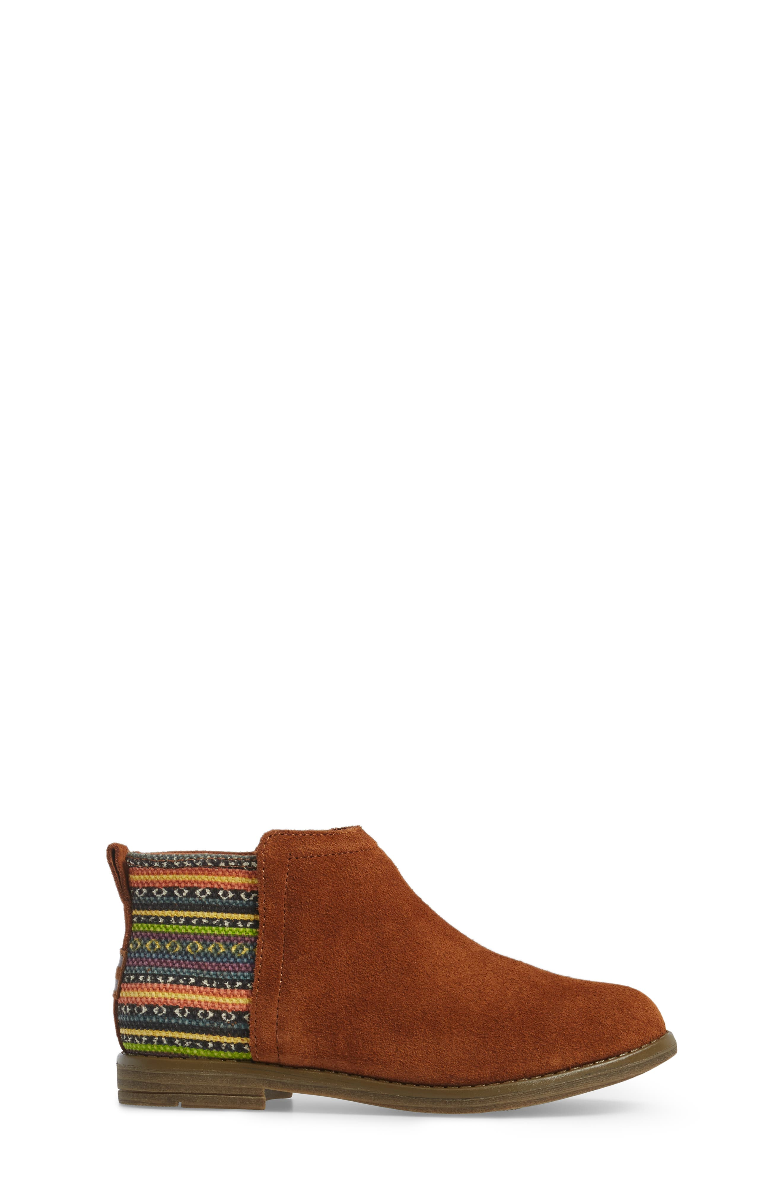 Deia Mixed Media Bootie,                             Alternate thumbnail 3, color,                             Cinnamon Suede