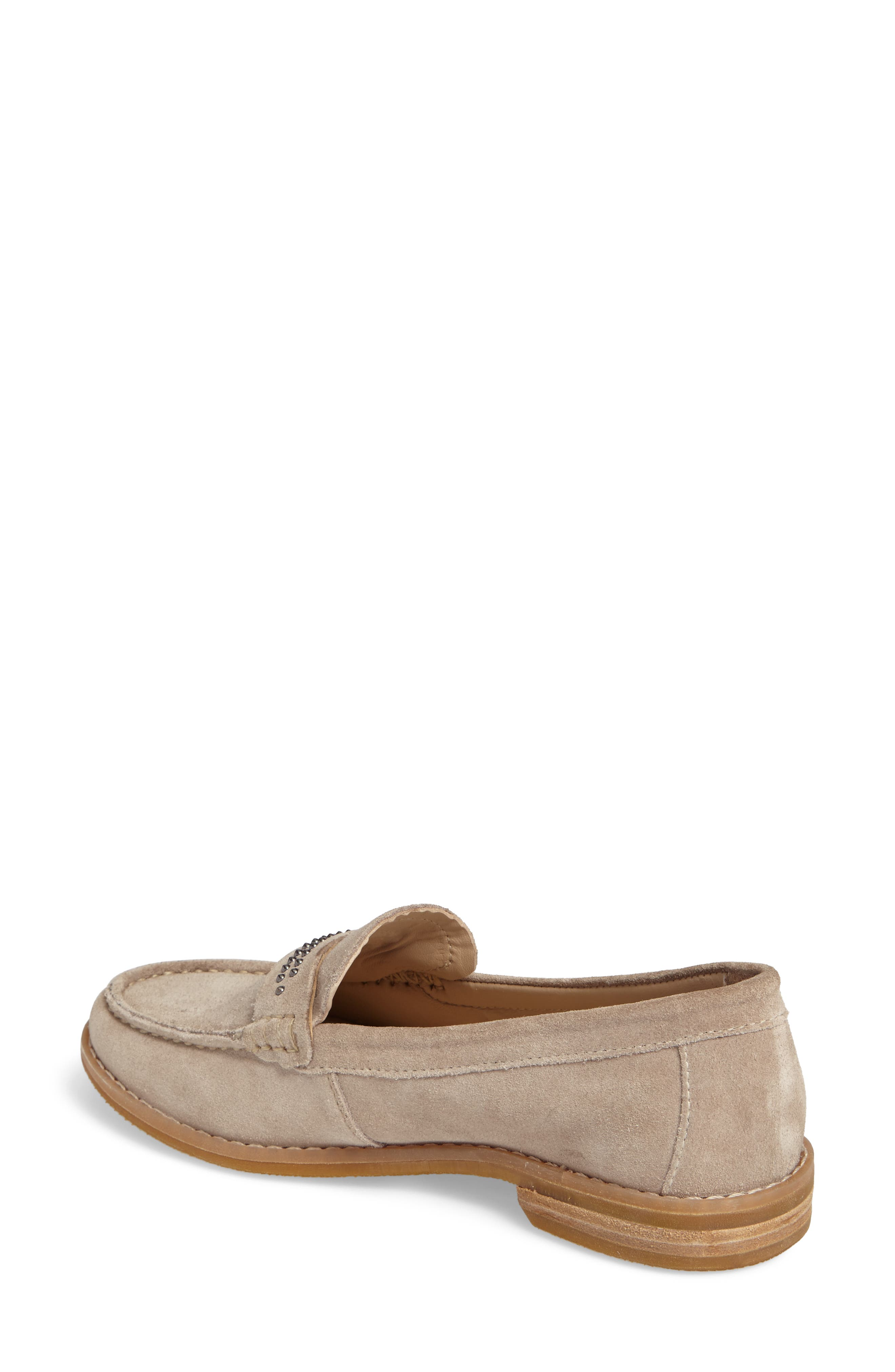 Aubree Chardon Loafer,                             Alternate thumbnail 2, color,                             Taupe Suede