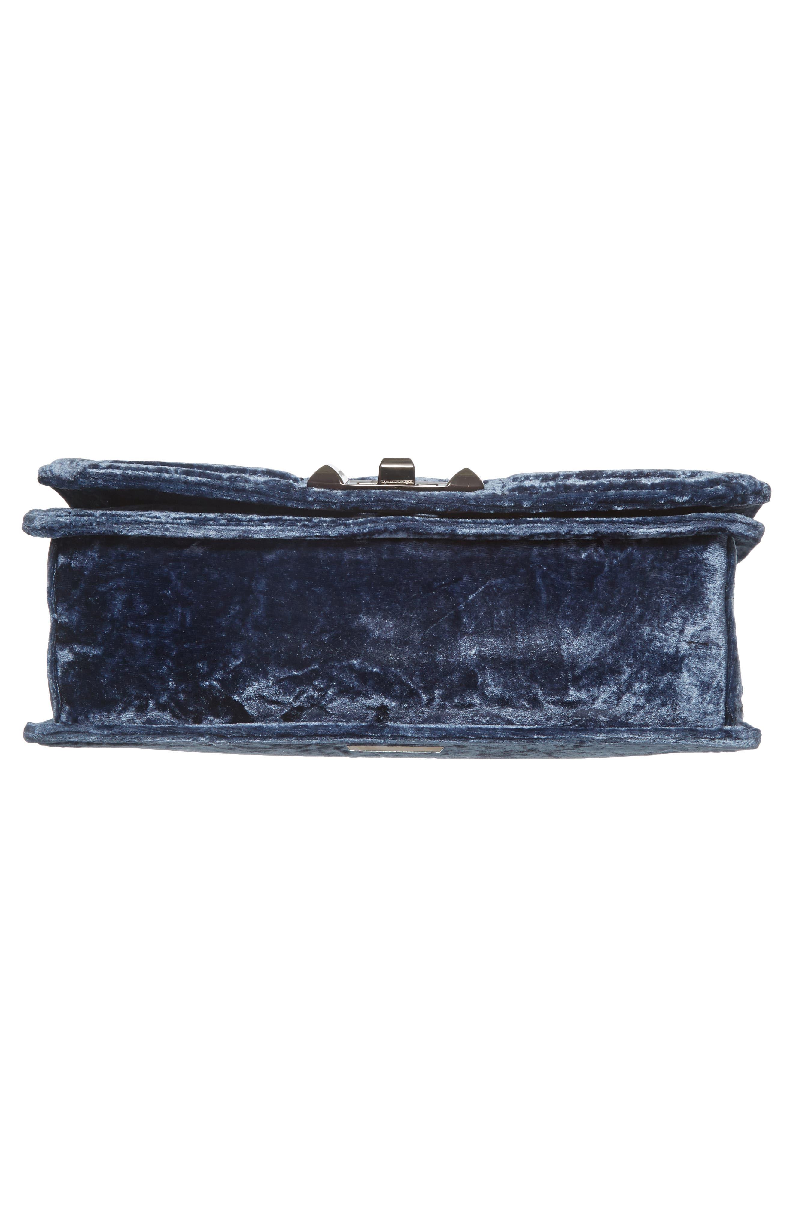 Love Velvet Quilted Crossbody Bag,                             Alternate thumbnail 6, color,                             Blue