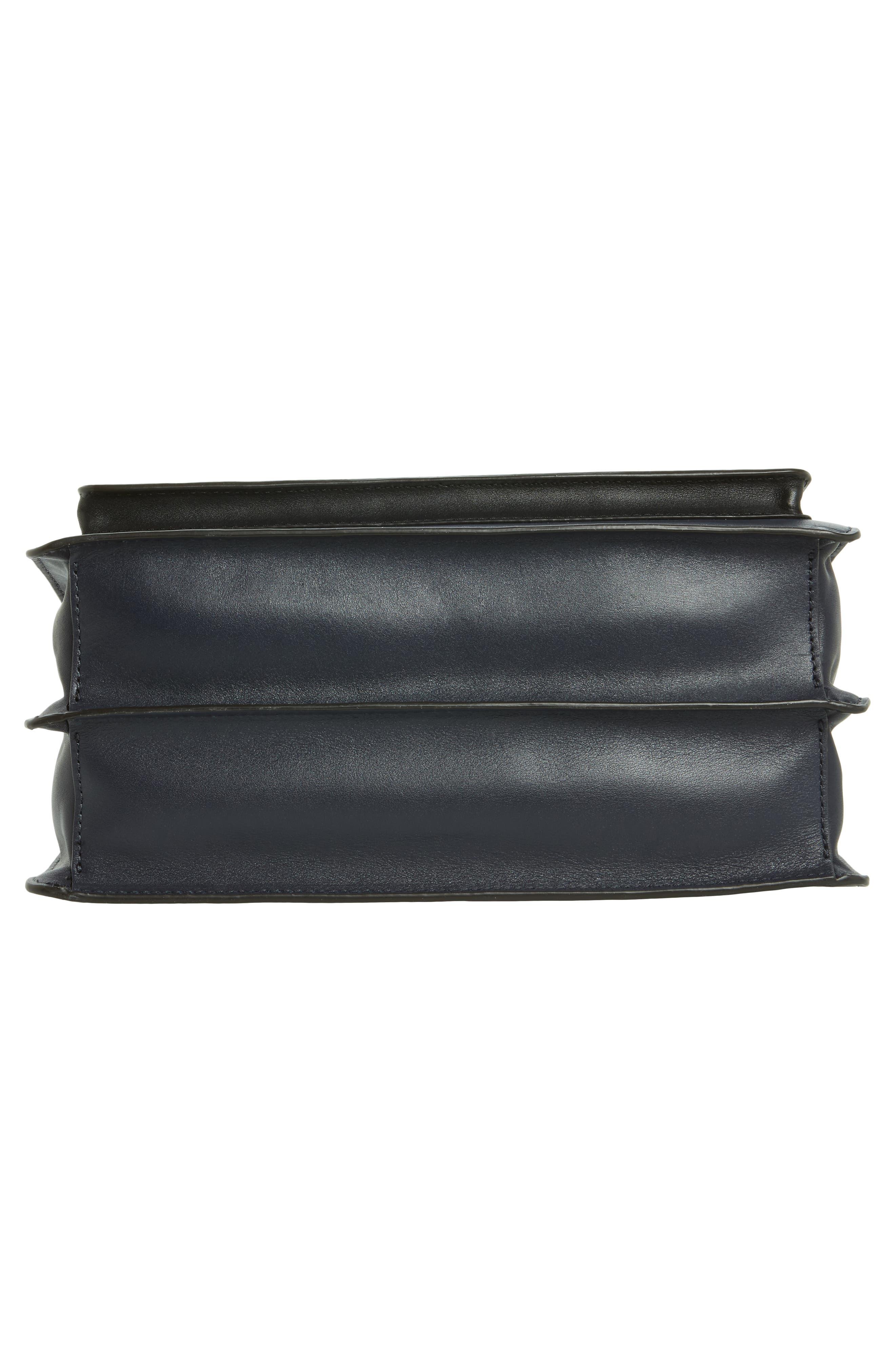 Top Handle Shoulder Bag,                             Alternate thumbnail 6, color,                             Black