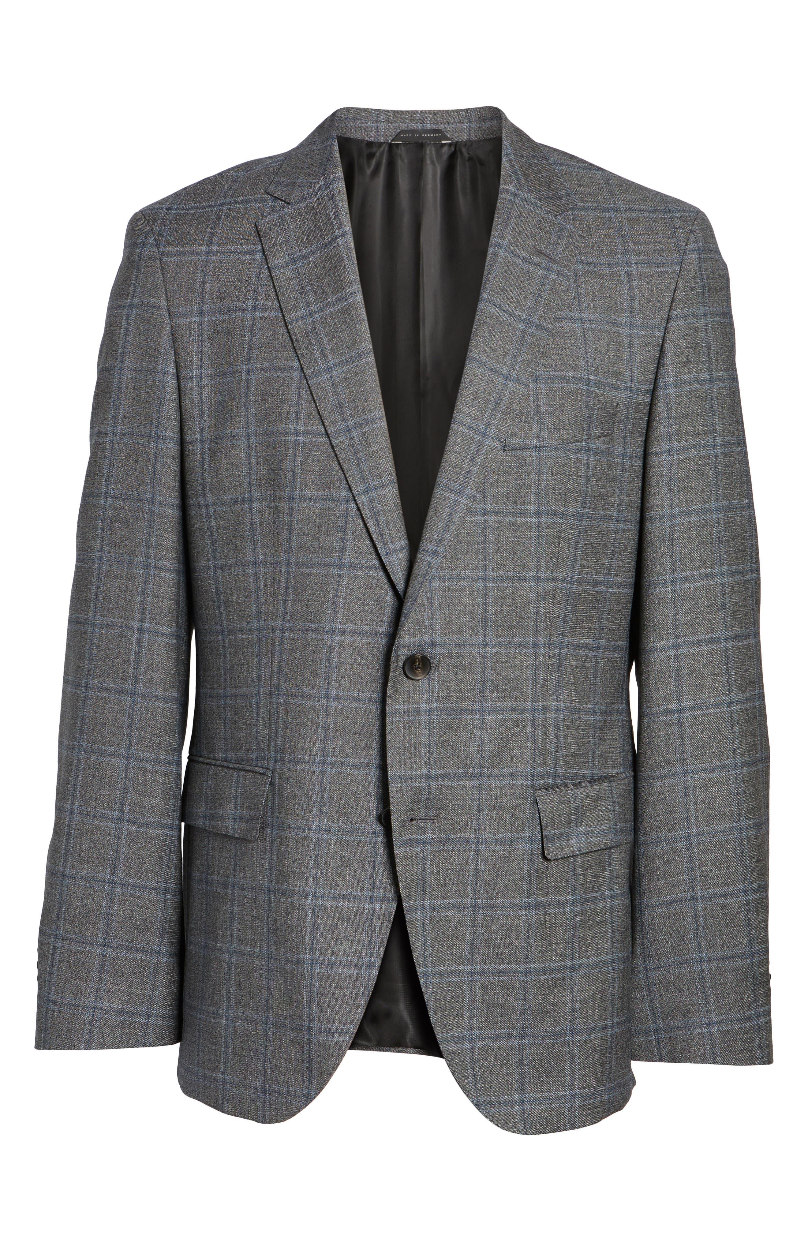 Alternate Image 6  - BOSS Jeen Trim Fit Wool Sport Coat