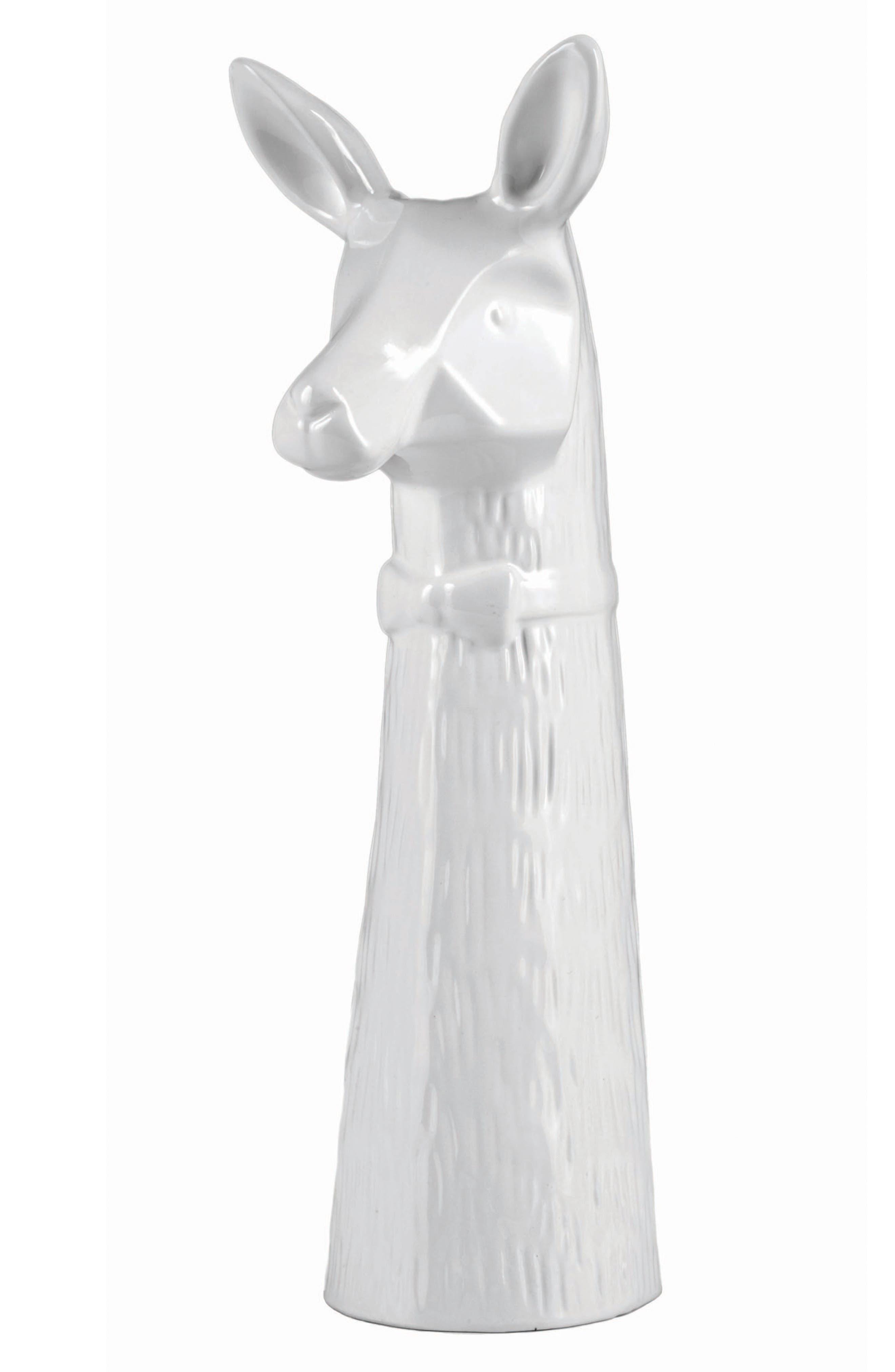 Easy, Tiger Llama Ceramic Bud Vase