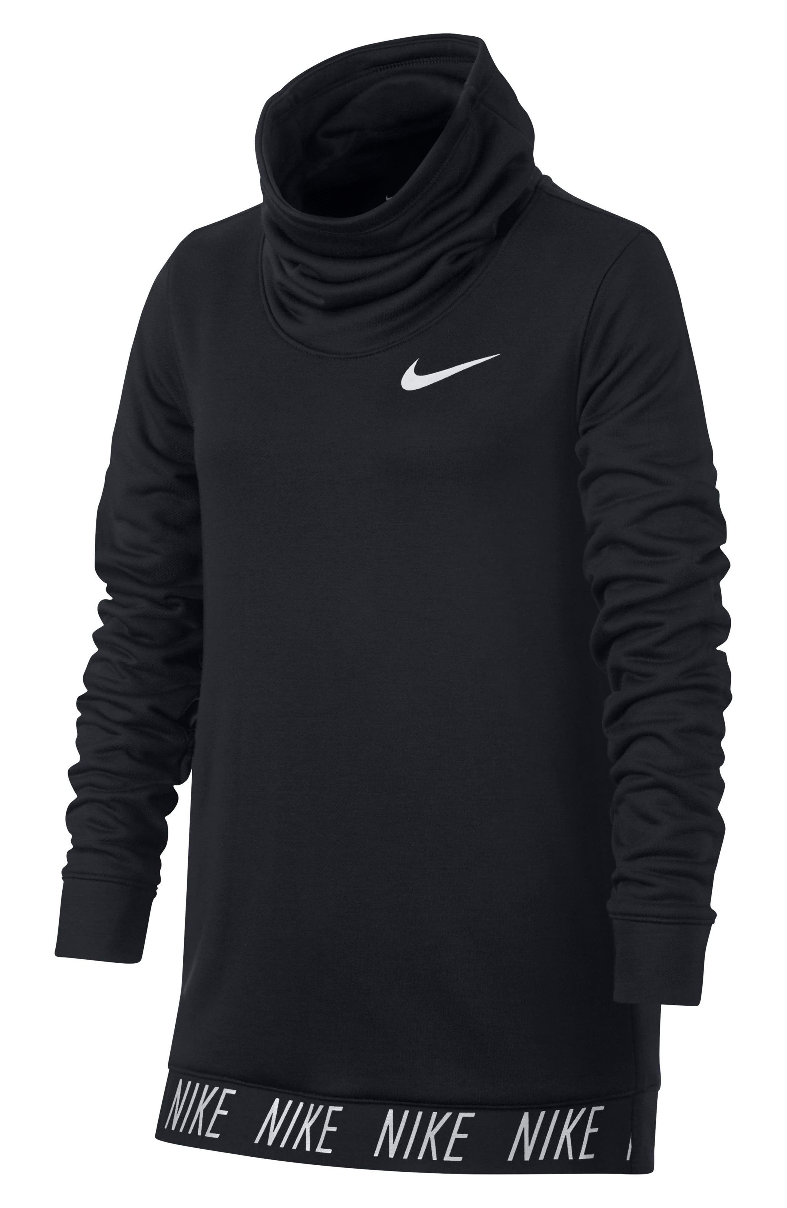 Alternate Image 4  - Nike Dry Core Studio Long Sleeve Pullover (Big Girls)