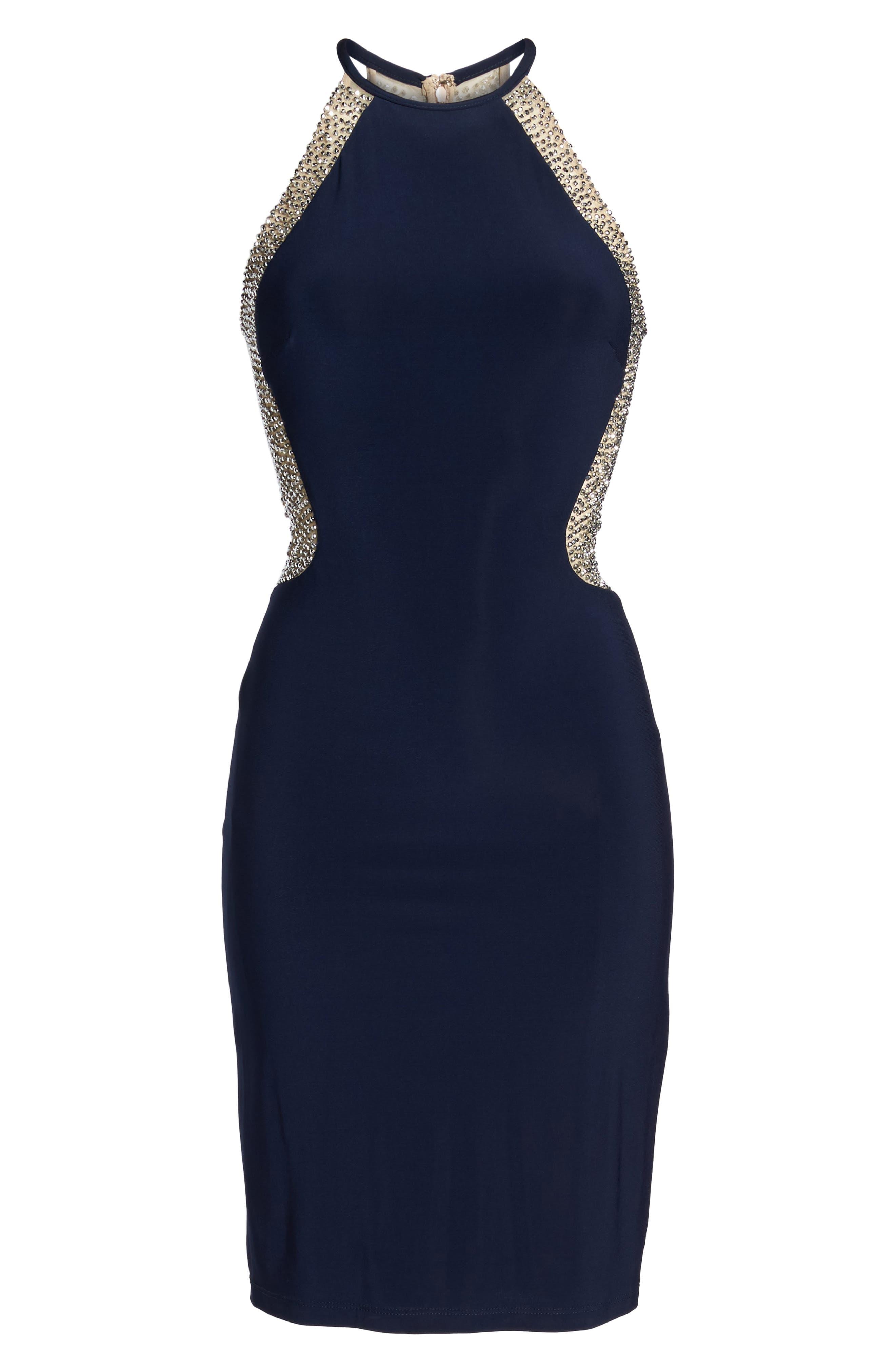 Alternate Image 6  - Xscape Beaded Mesh & Jersey Sheath Dress
