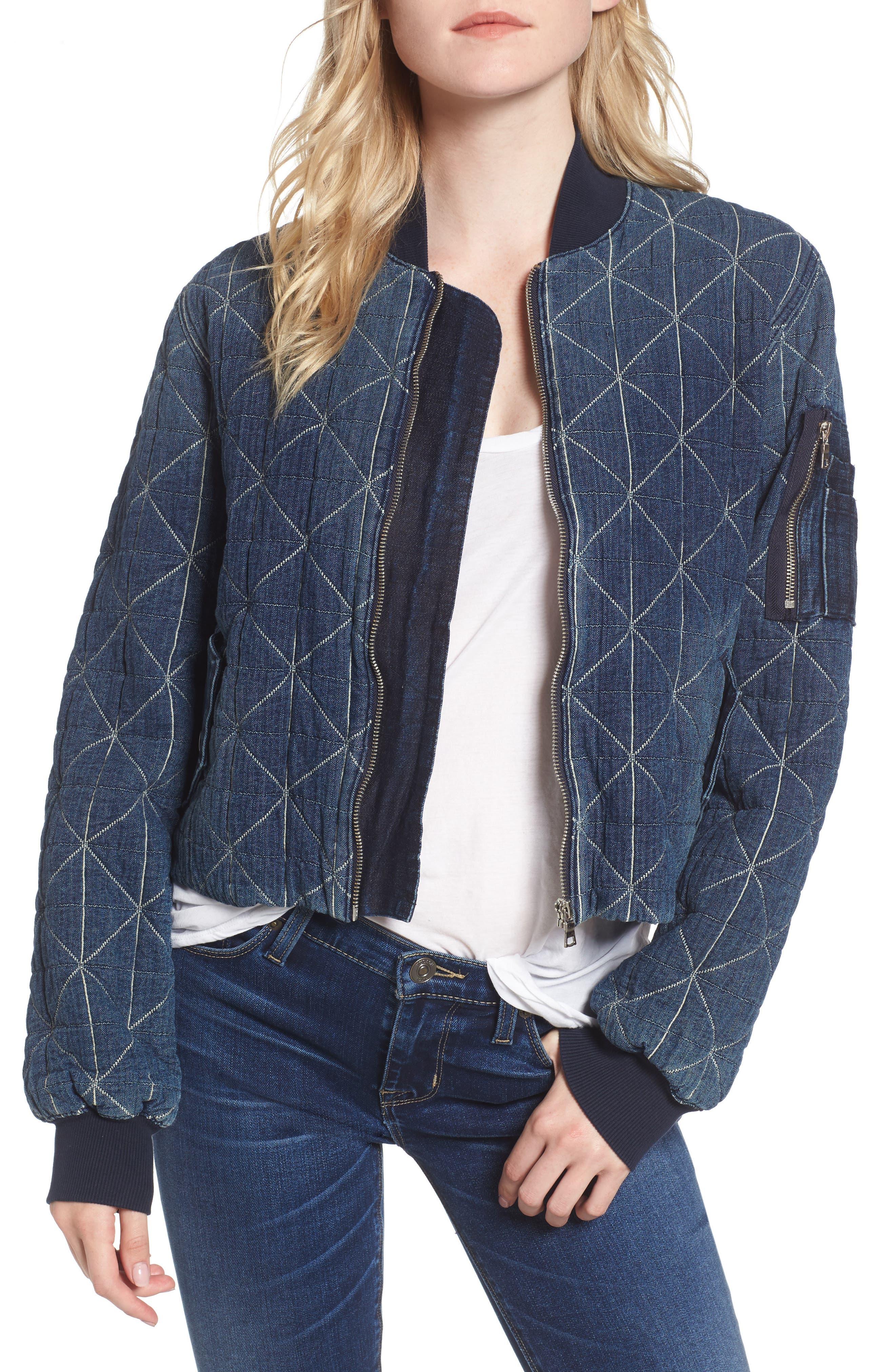 Hudson Jeans Gene Quilted Bomber Jacket