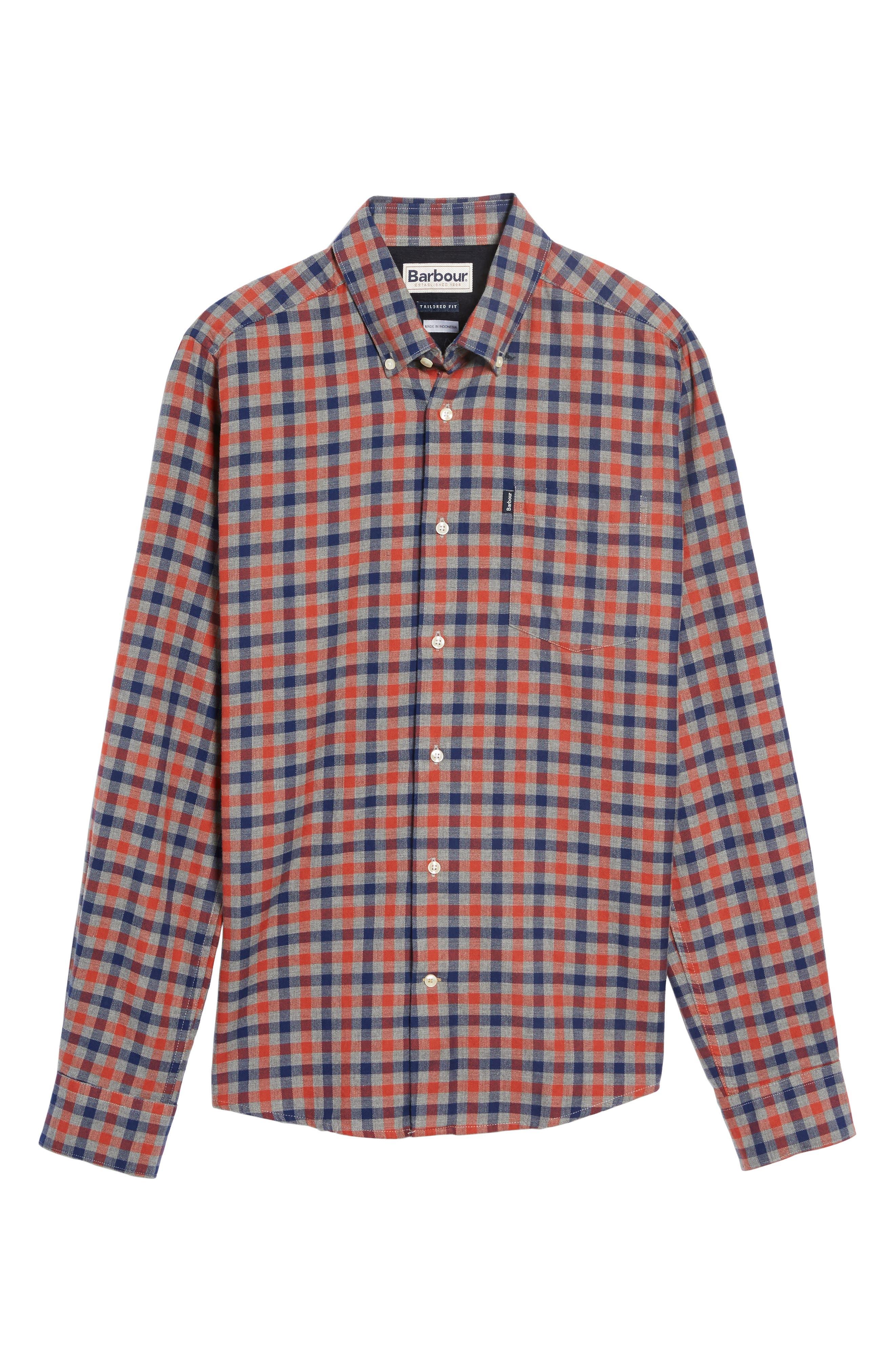 Alternate Image 6  - Barbour Moss Check Flannel Sport Shirt