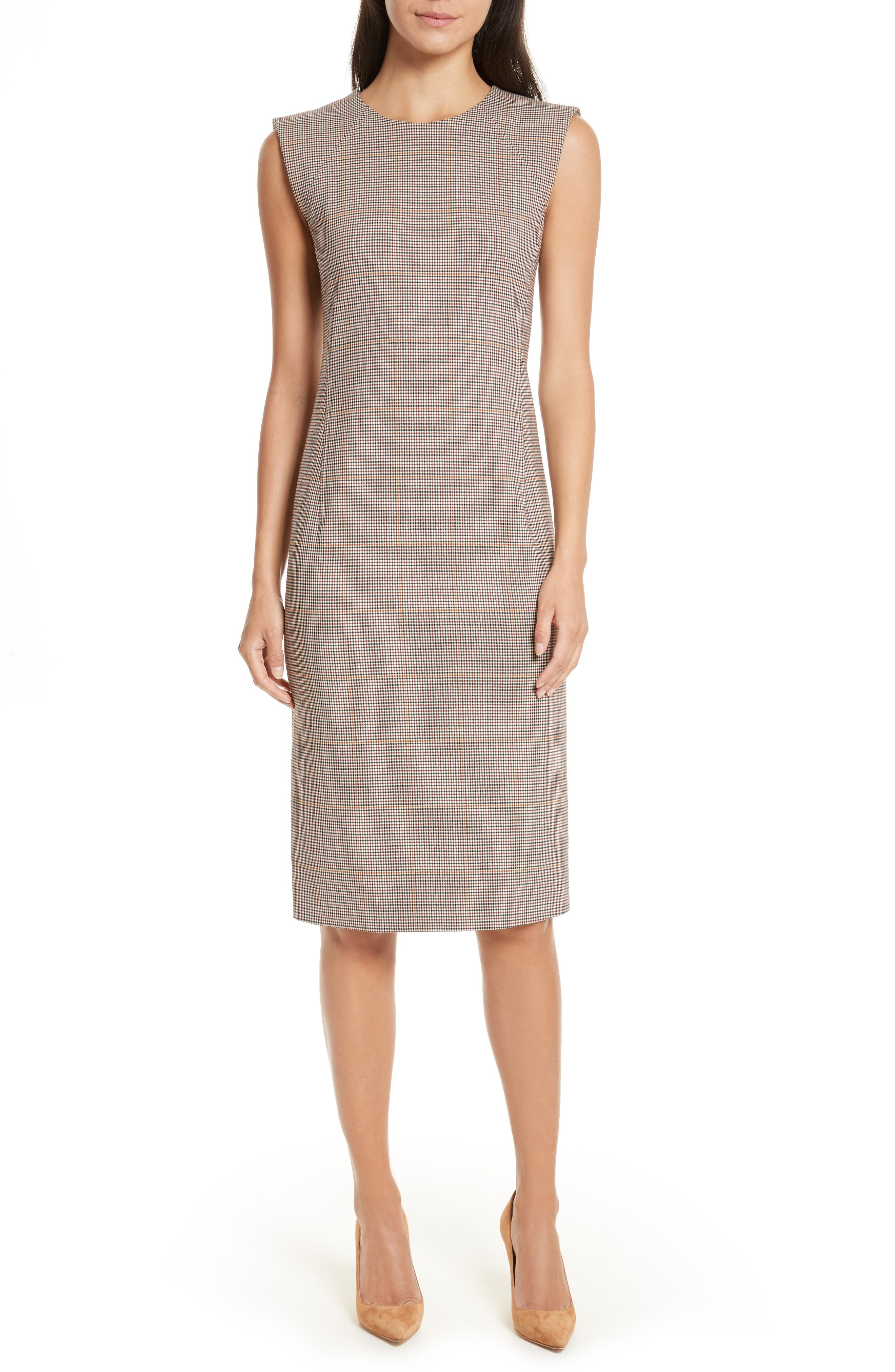 Theory Windowpane Check Power Dress