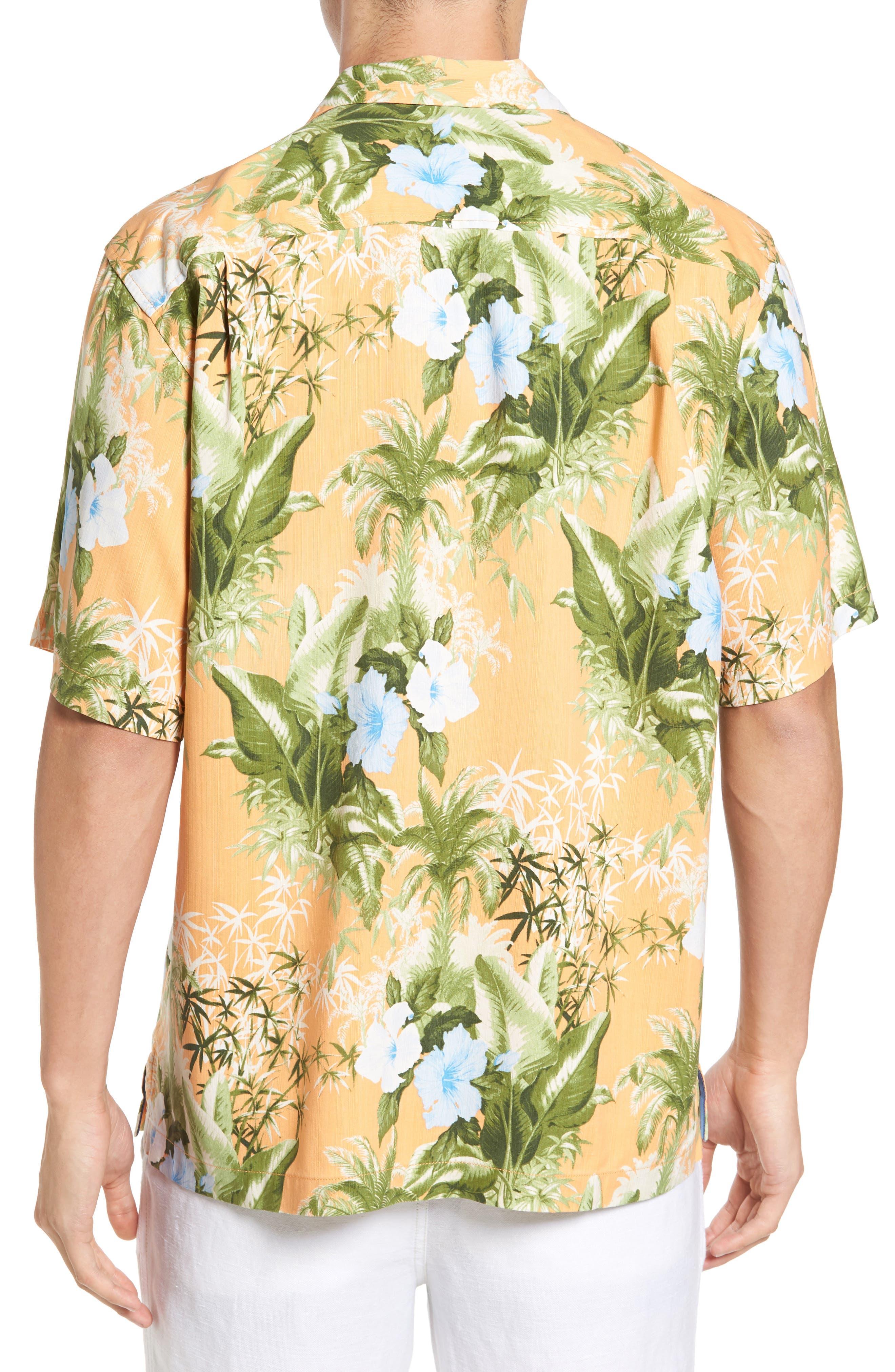 Alternate Image 2  - Tommy Bahama Corfu Jungle Silk Camp Shirt