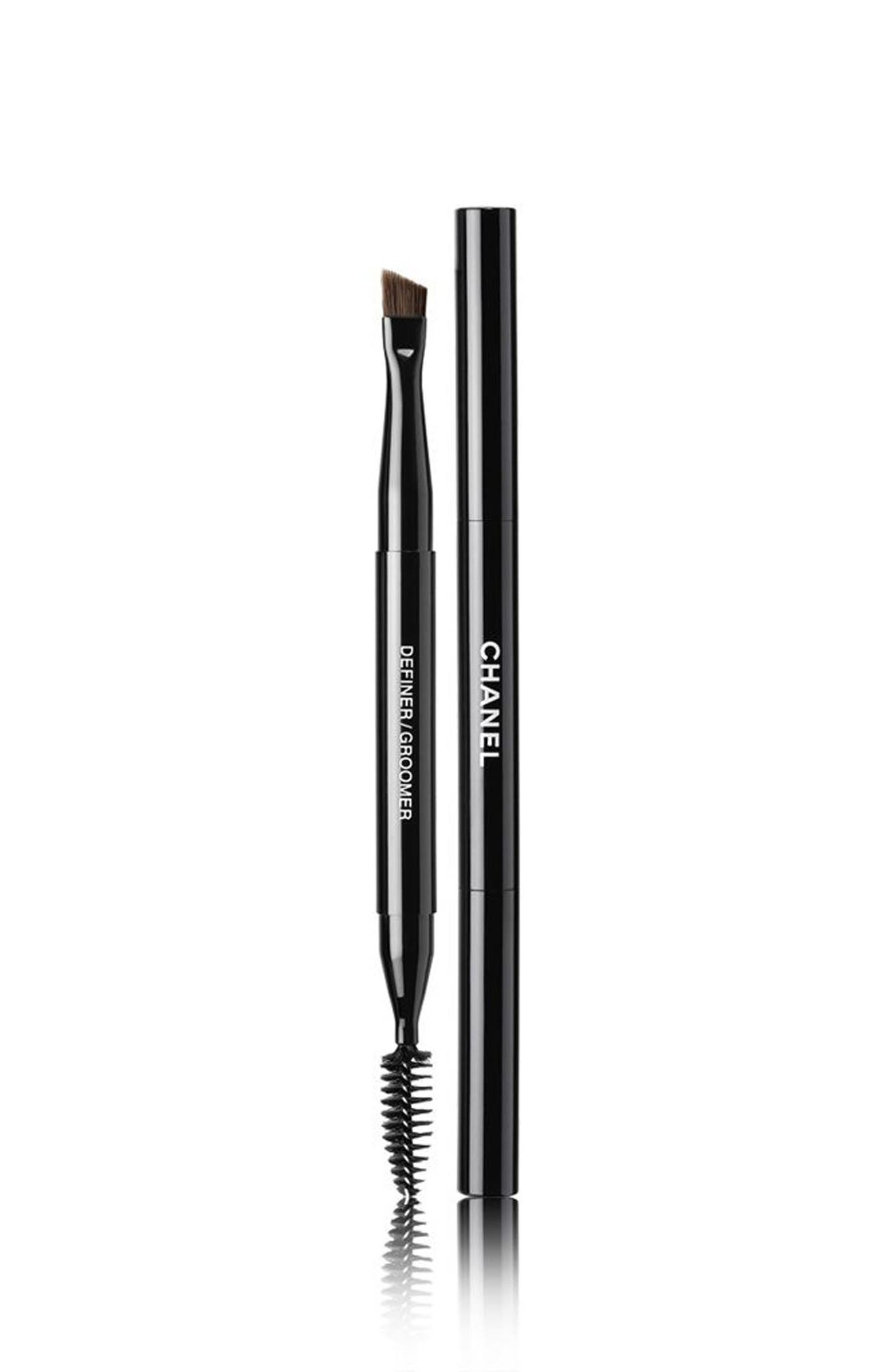 LES PINCEAUX DE CHANEL<br />Retractable Dual-Tip Brow Brush,                         Main,                         color, No Color