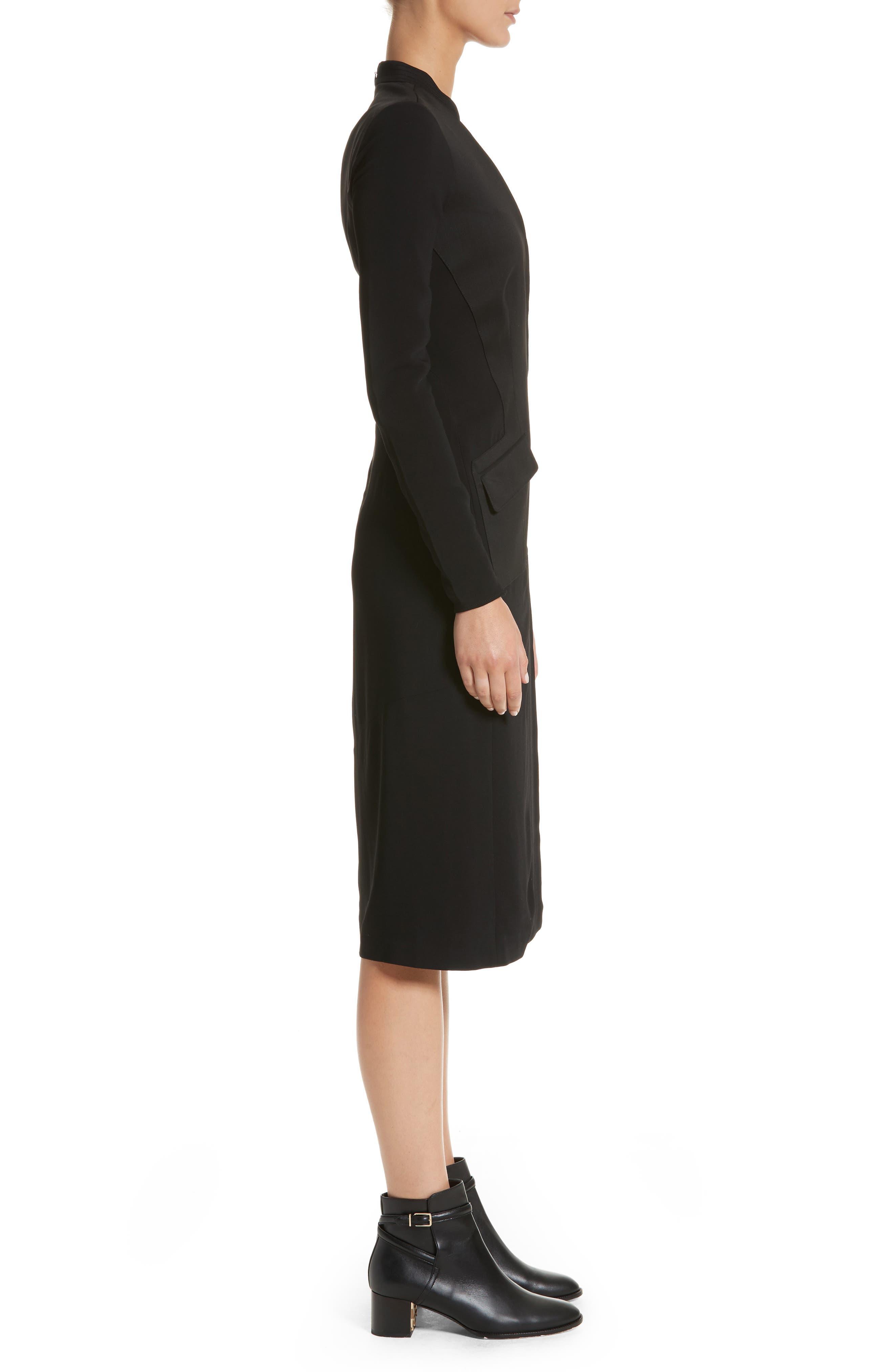 Miriam Sheath Dress,                             Alternate thumbnail 3, color,                             Black