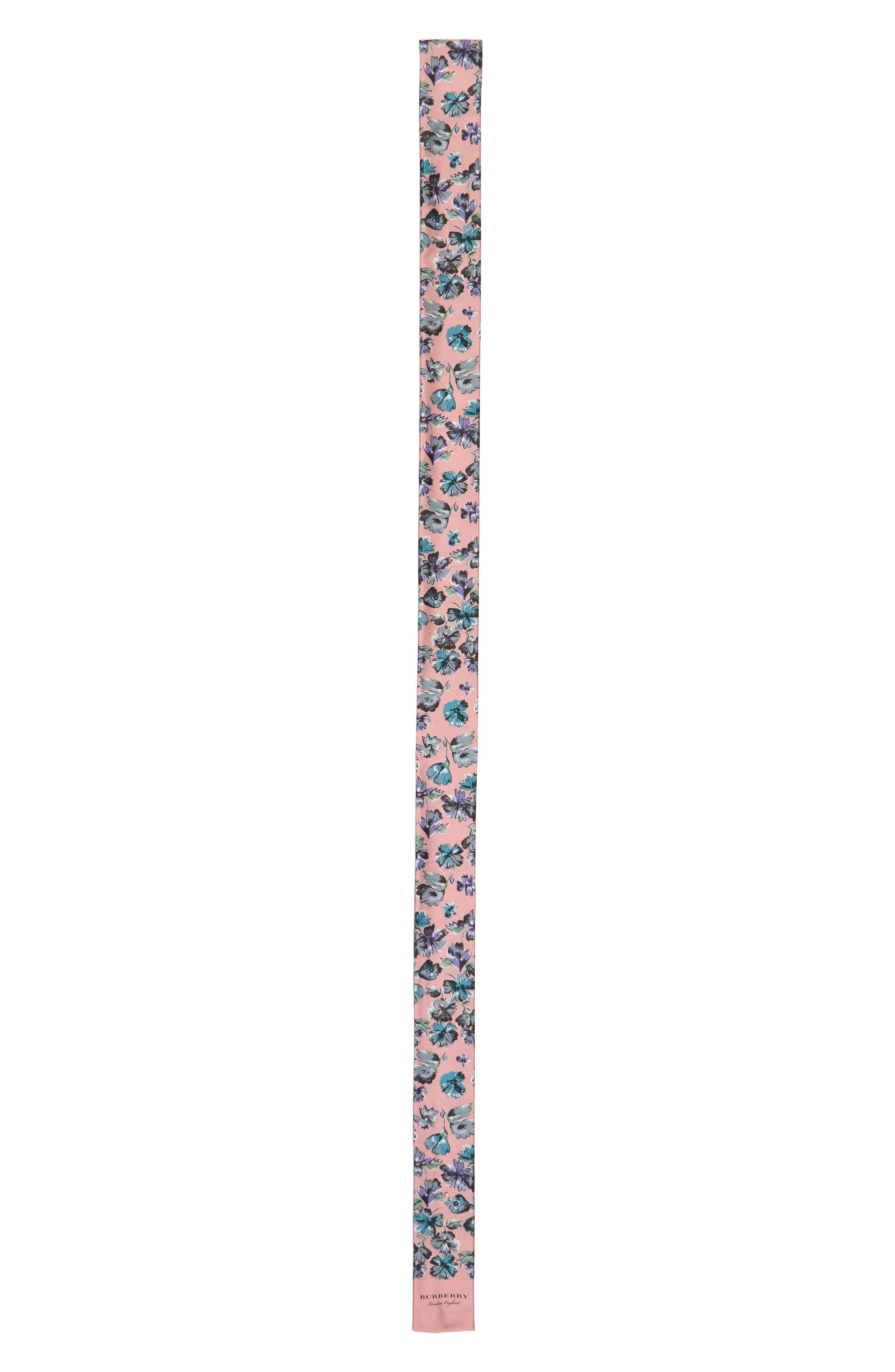 Main Image - Burberry Scatter Floral Silk Skinny Scarf