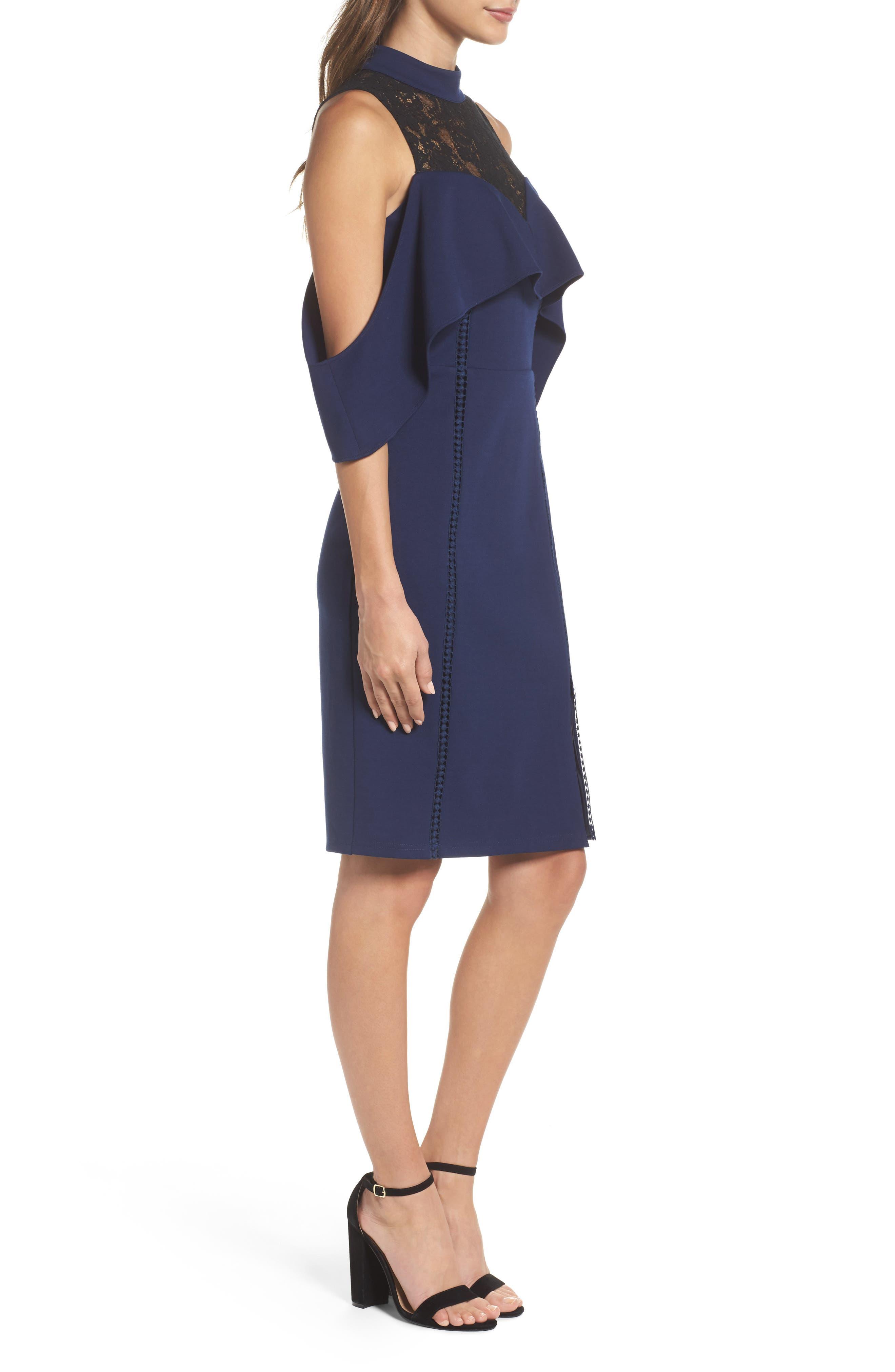 Alternate Image 3  - Adelyn Rae Hadyn Cold Shoulder Sheath Dress