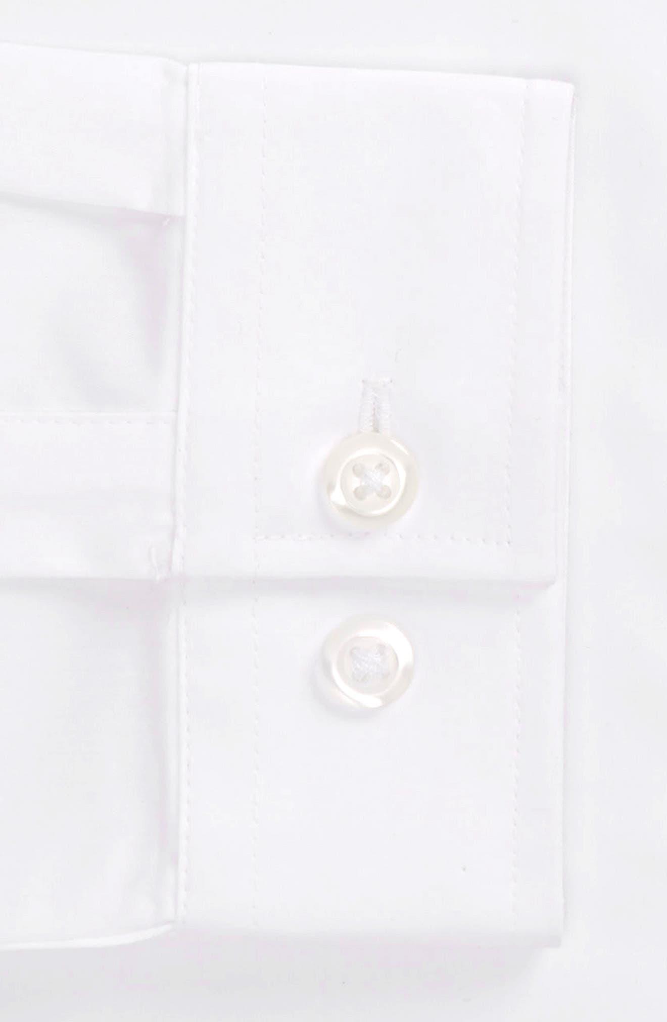 Band Collar Skinny Fit Dress Shirt,                             Alternate thumbnail 4, color,                             White