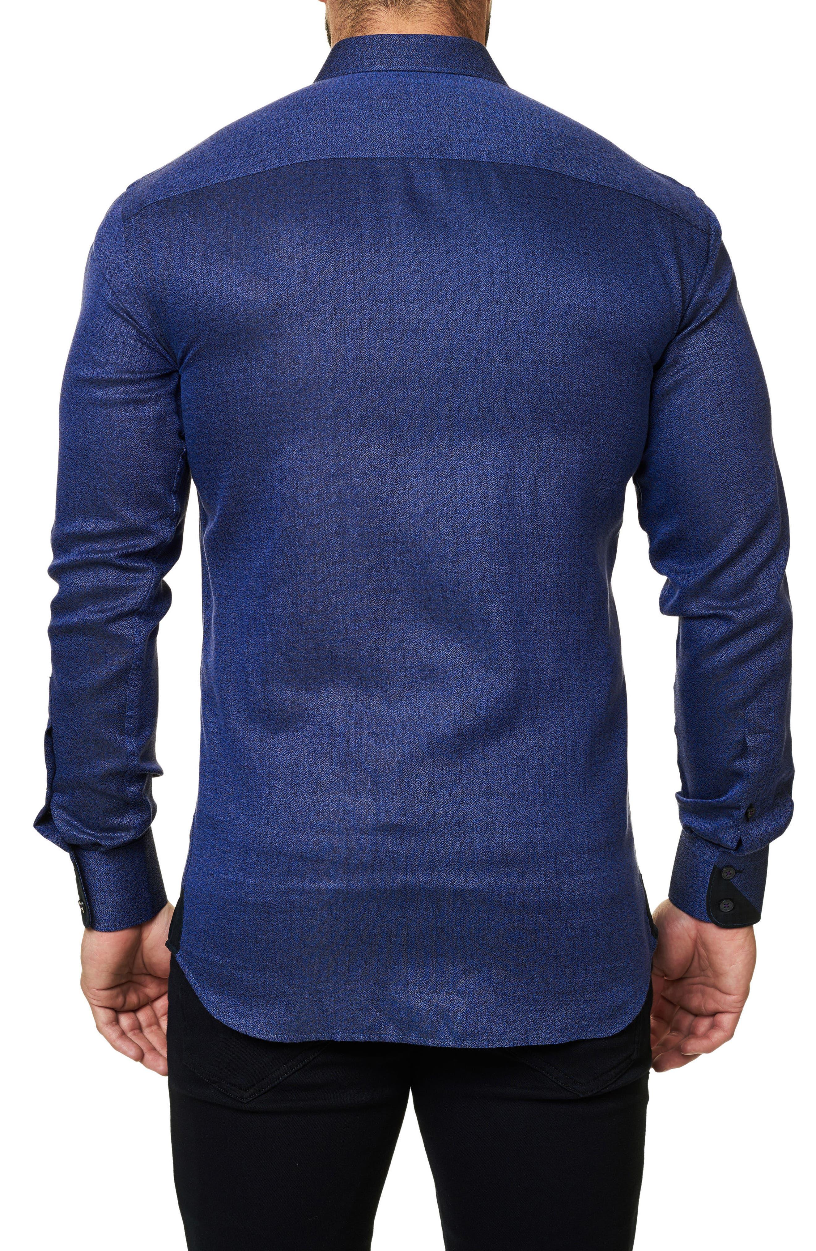 Trim Fit Sport Shirt,                             Alternate thumbnail 2, color,                             Purple