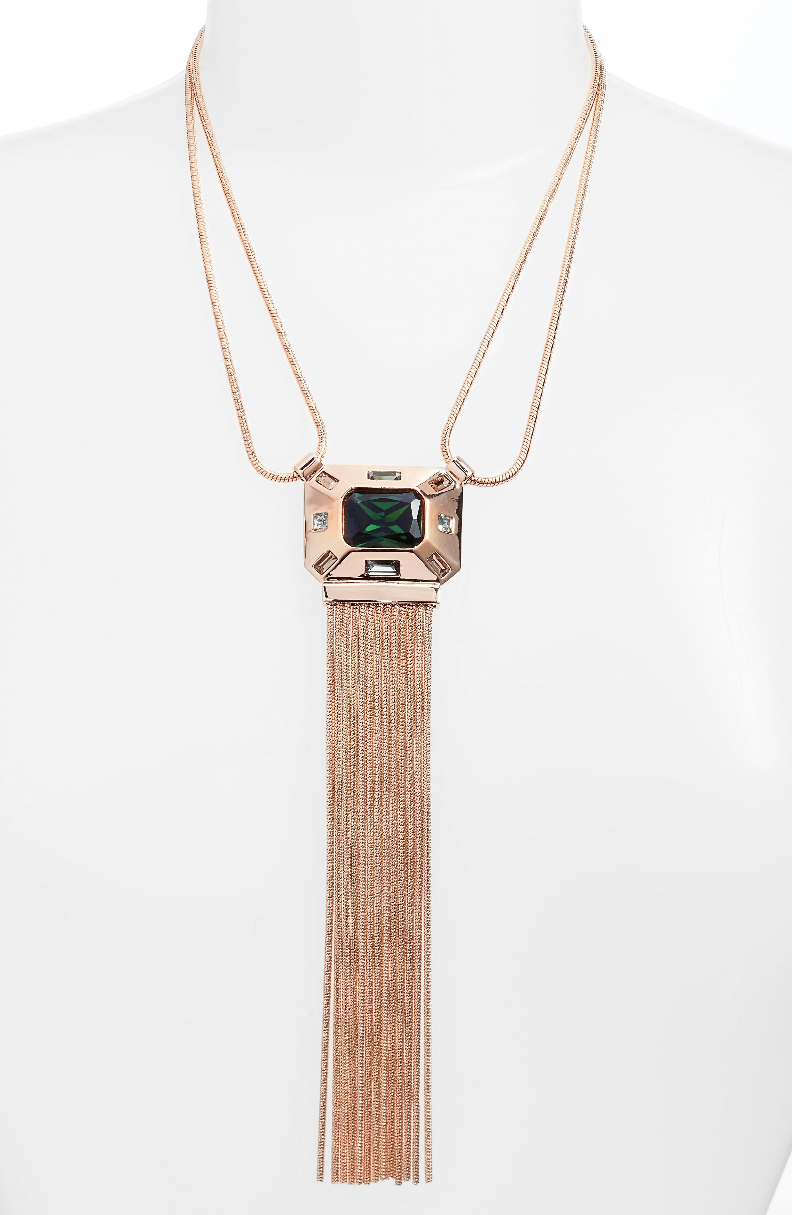 Vince Camuto Fringe Pendant Necklace