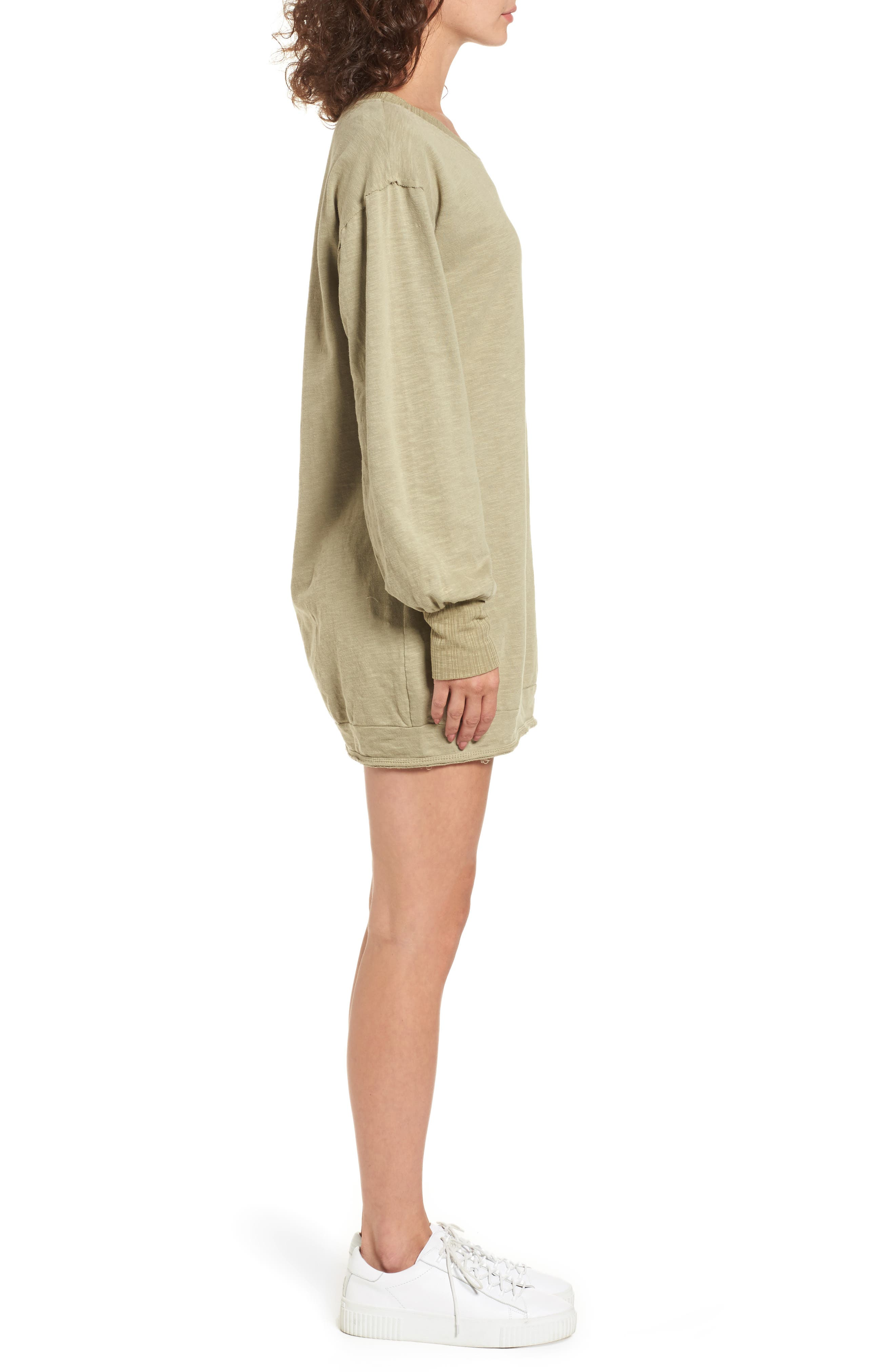 Mountains Fade Sweatshirt Dress,                             Alternate thumbnail 4, color,                             Sage