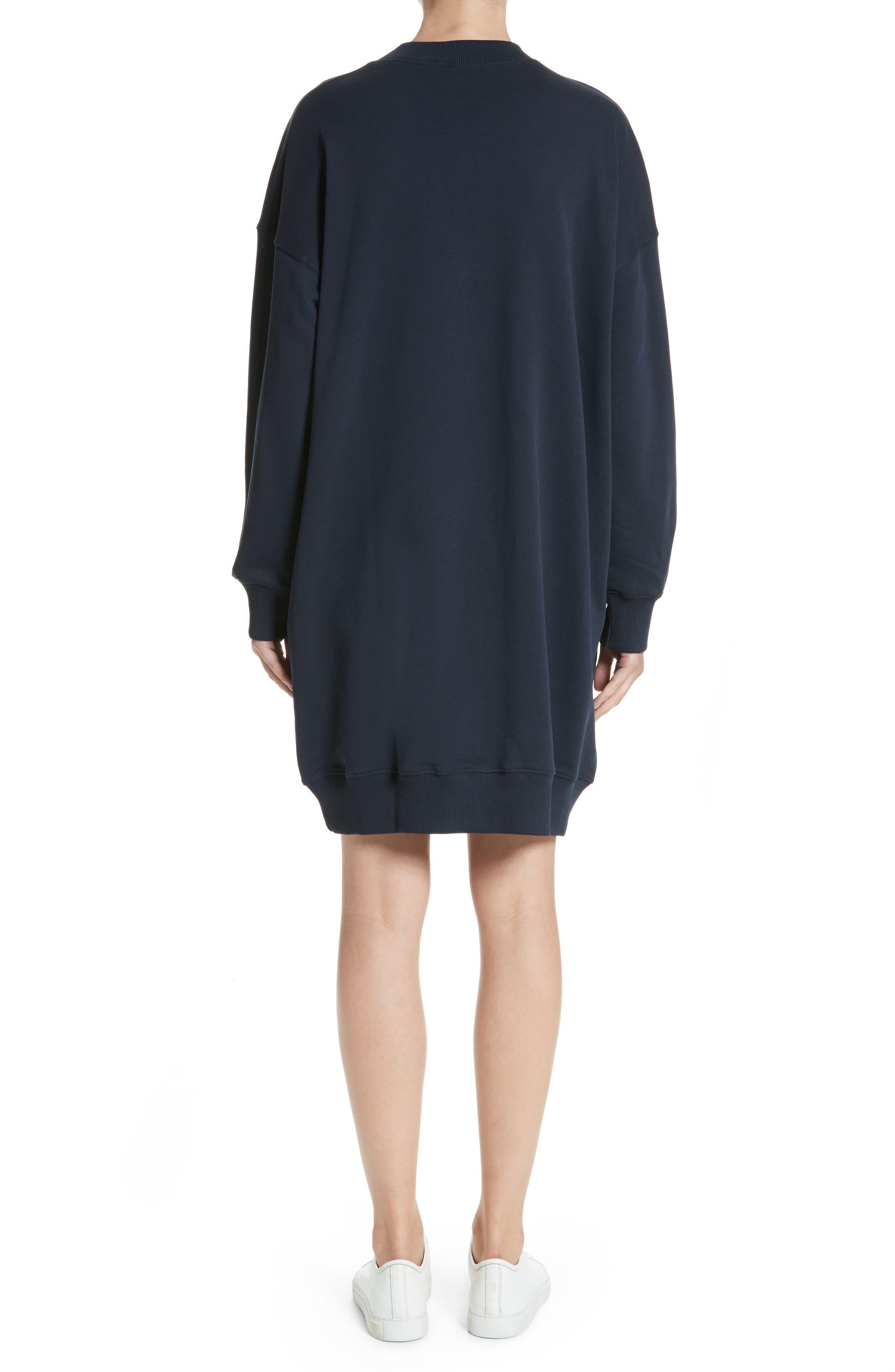 Sweatshirt Dress,                             Alternate thumbnail 2, color,                             Navy