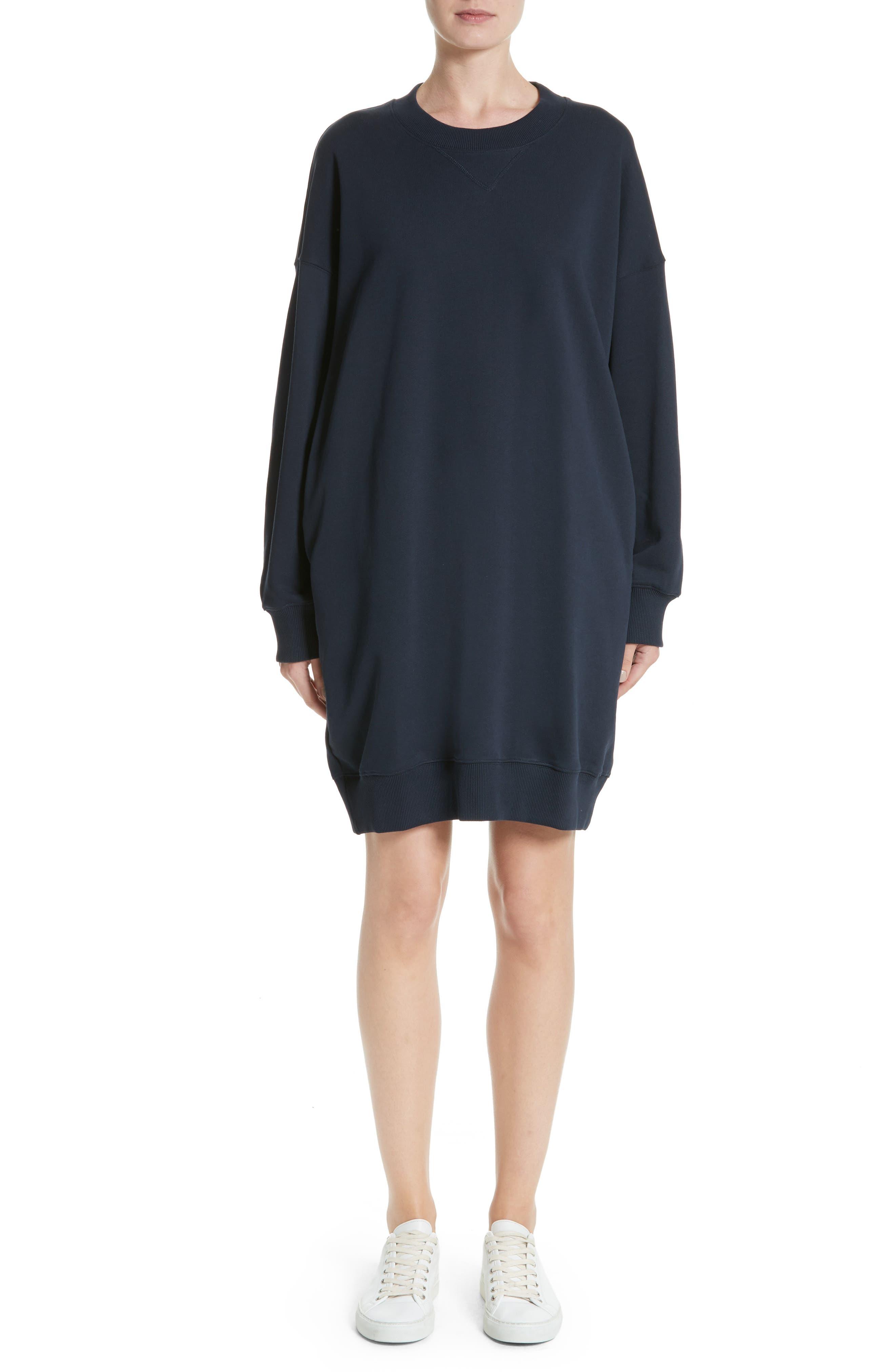Sweatshirt Dress,                             Main thumbnail 1, color,                             Navy