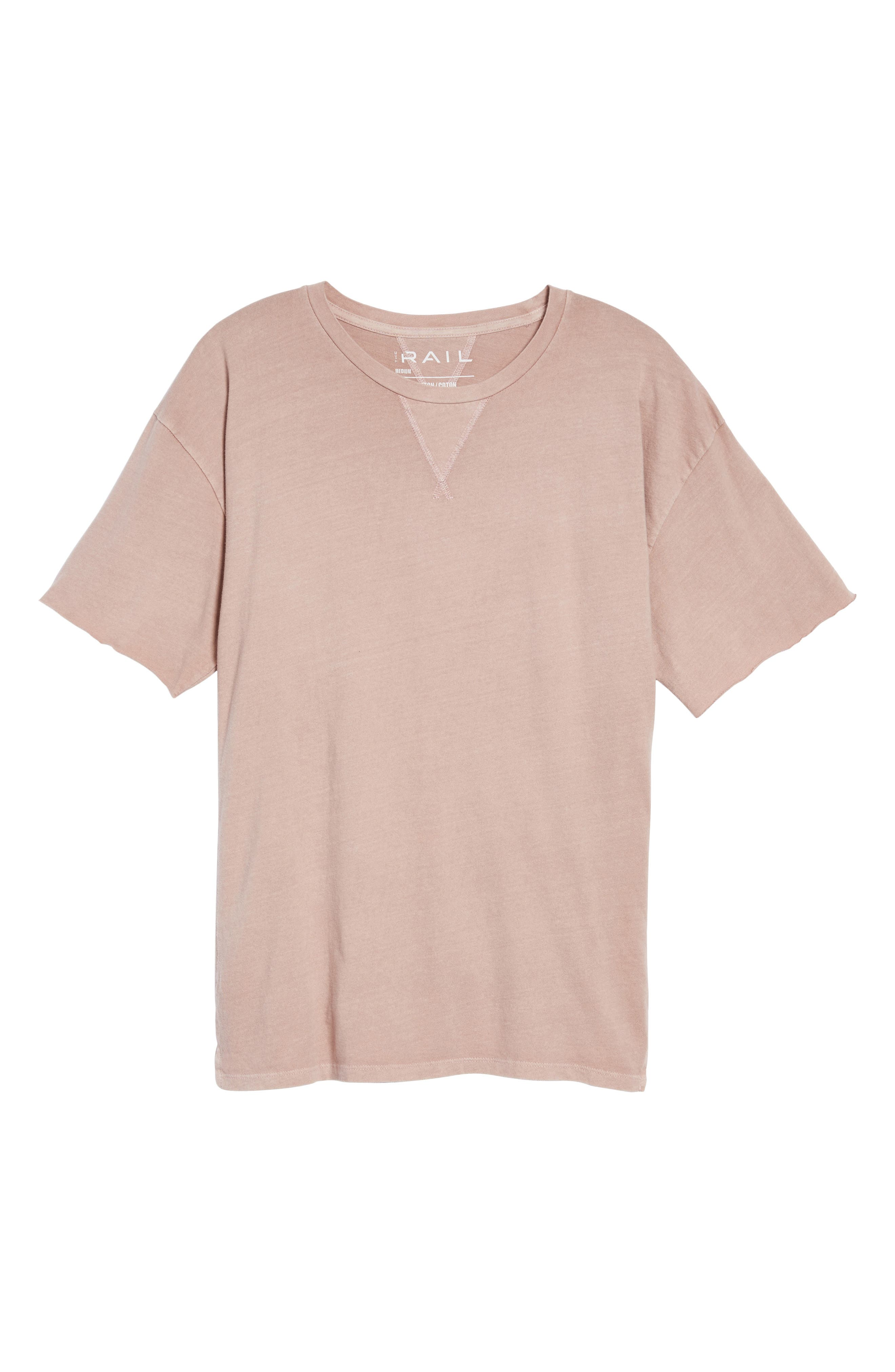 Mineral Wash T-Shirt,                             Alternate thumbnail 6, color,                             Pink Adobe