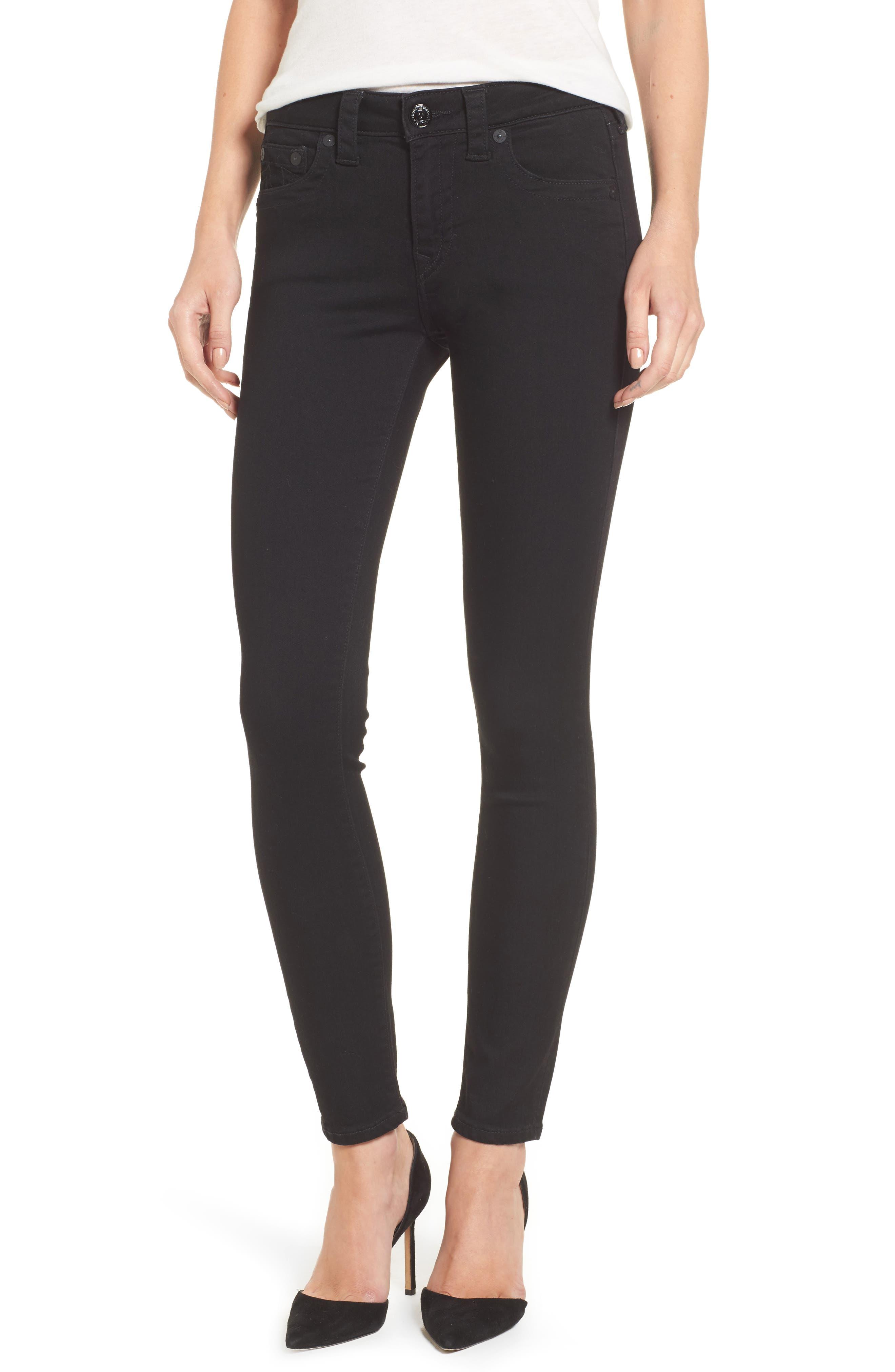 Jennie Curvy Skinny Jeans,                             Main thumbnail 1, color,                             Way Back Black